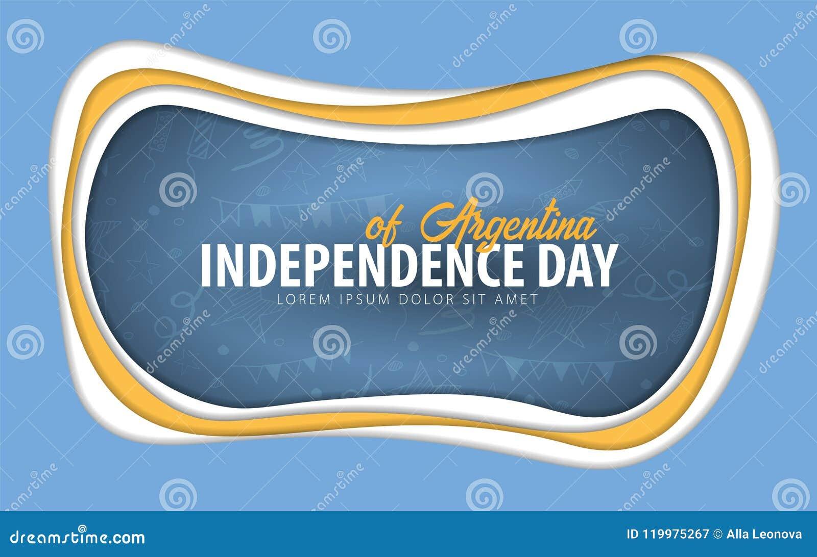 Arenaceous Självständighetsdagenhälsningkort papperssnittstil