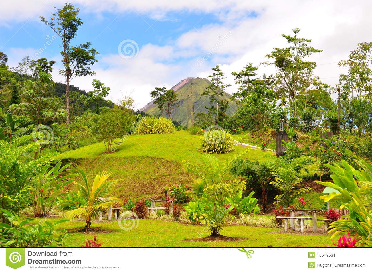 Download Arenal Volcano, Costa Rica stock image. Image of camping - 16619531