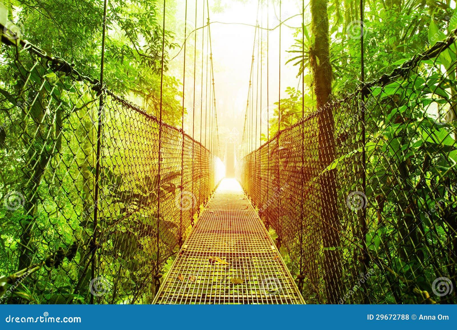 Arenal Wiszących mostów park Costa Rica