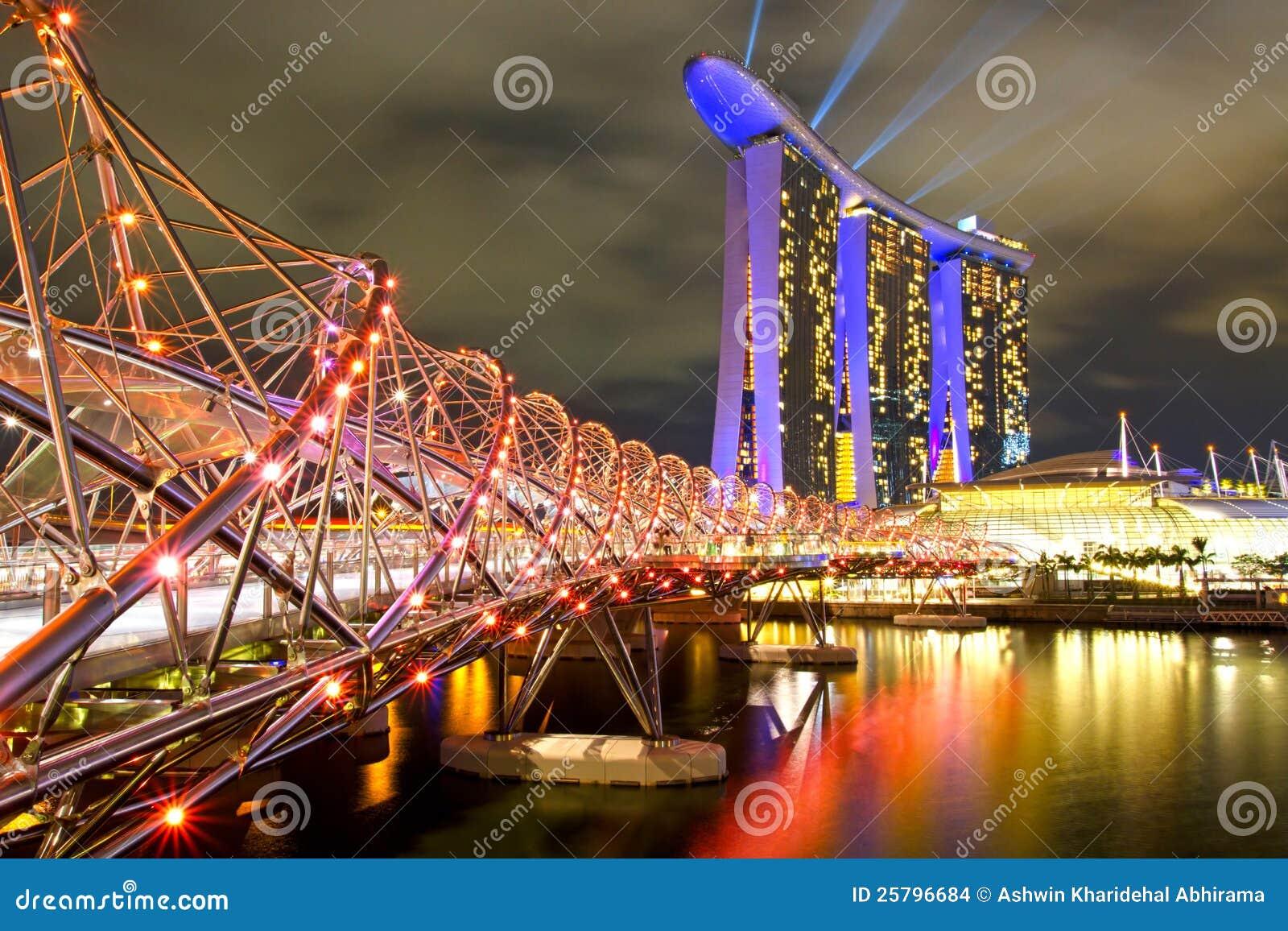 Arenas de la bahía del puerto deportivo en Singapur.