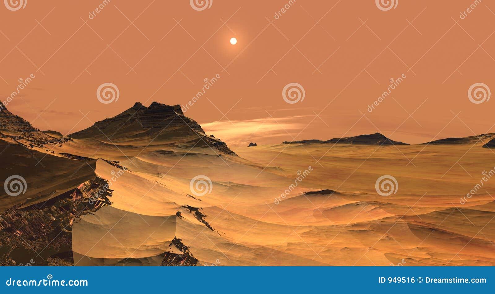 Arenas rojas de Marte