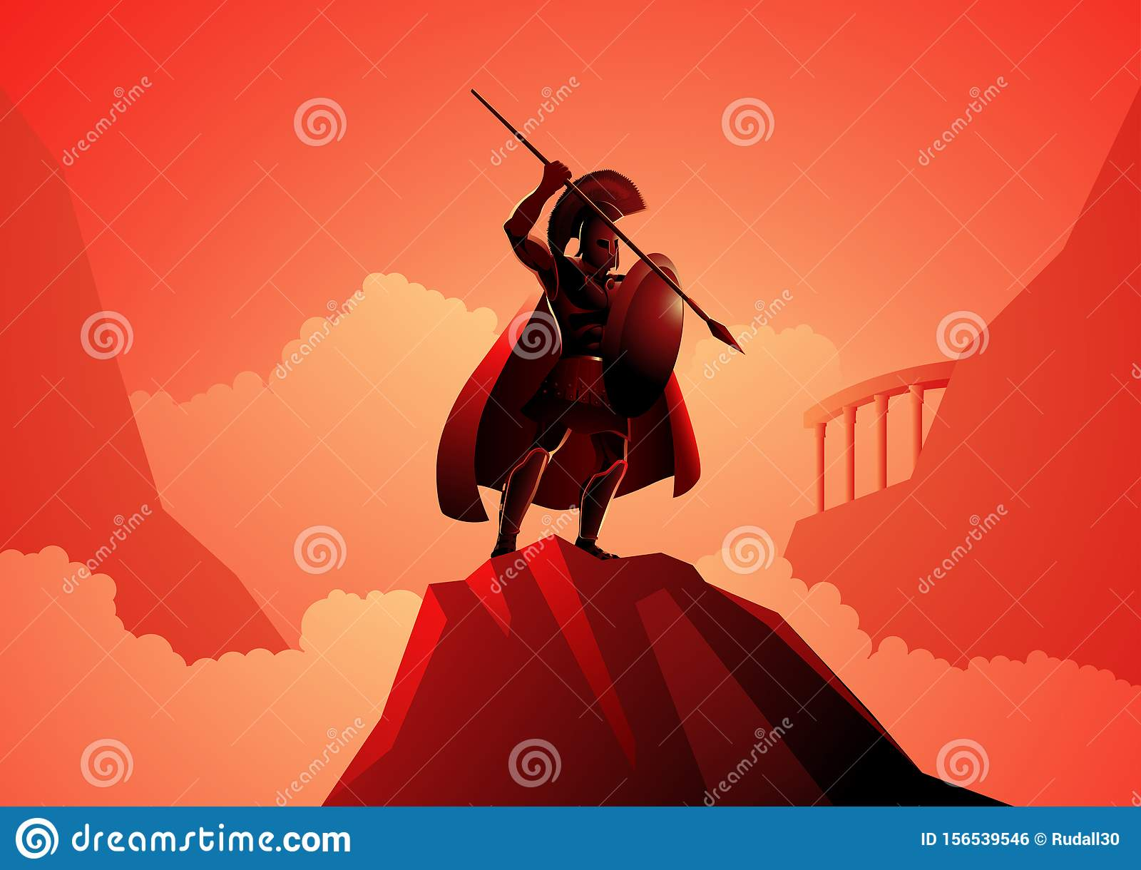 Ares The Greek God Of War Stock Vector Illustration Of