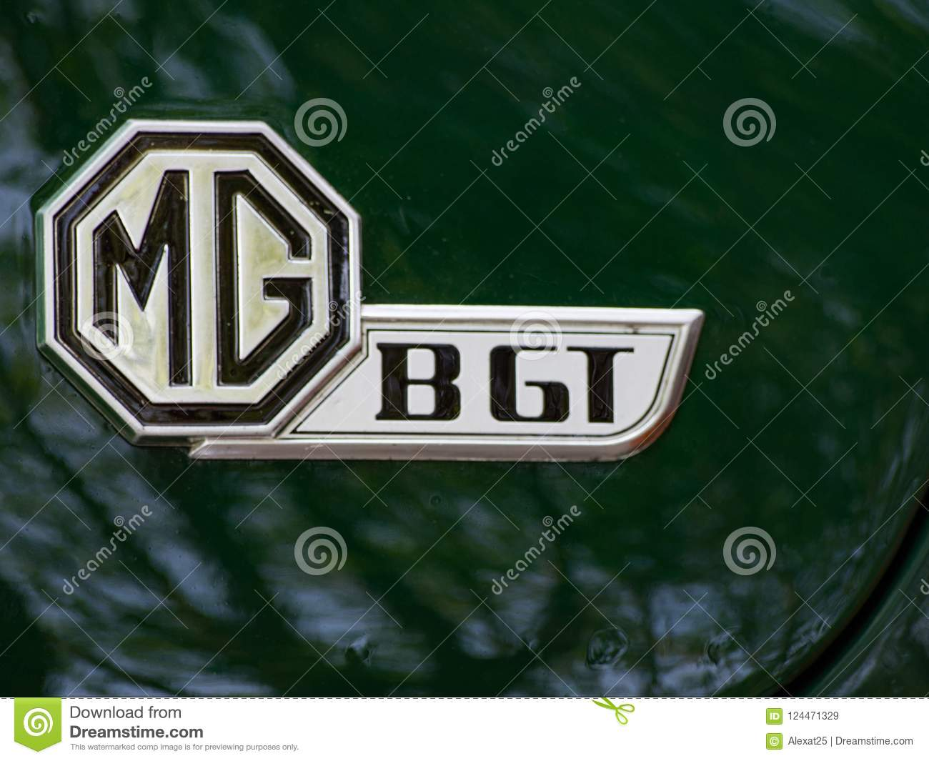 Ares Spain Emblem Of Vintage Mg Bgt Car Editorial Stock Image Image Of Machine Exhibition 124471329