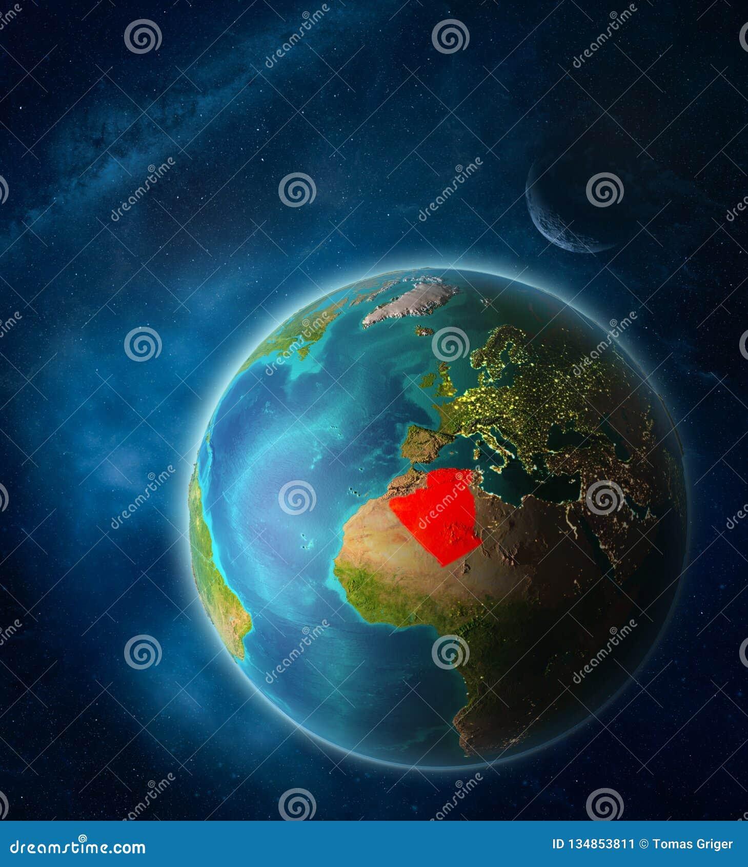 Argélia na terra do espaço