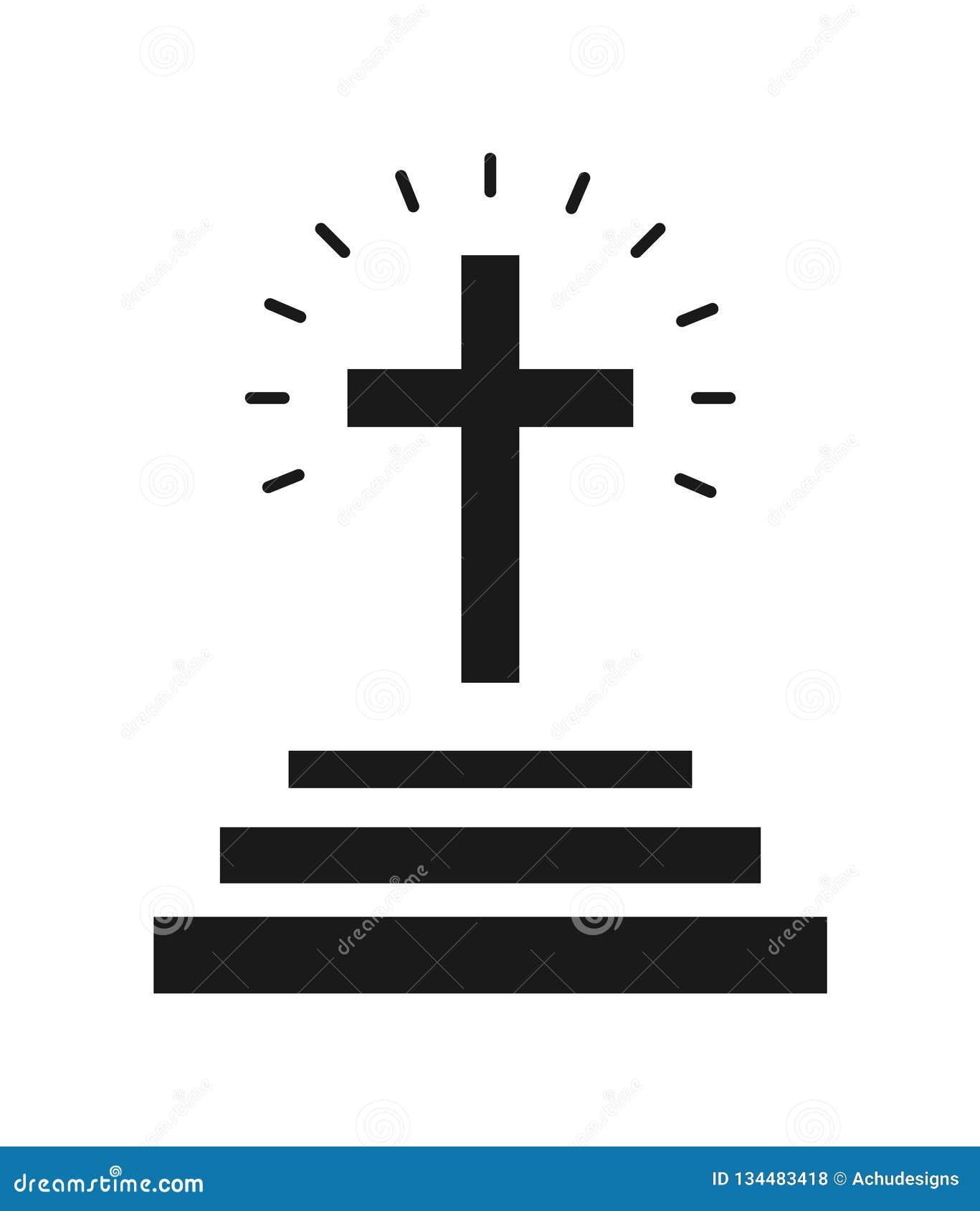 Arg symbol för kyrka