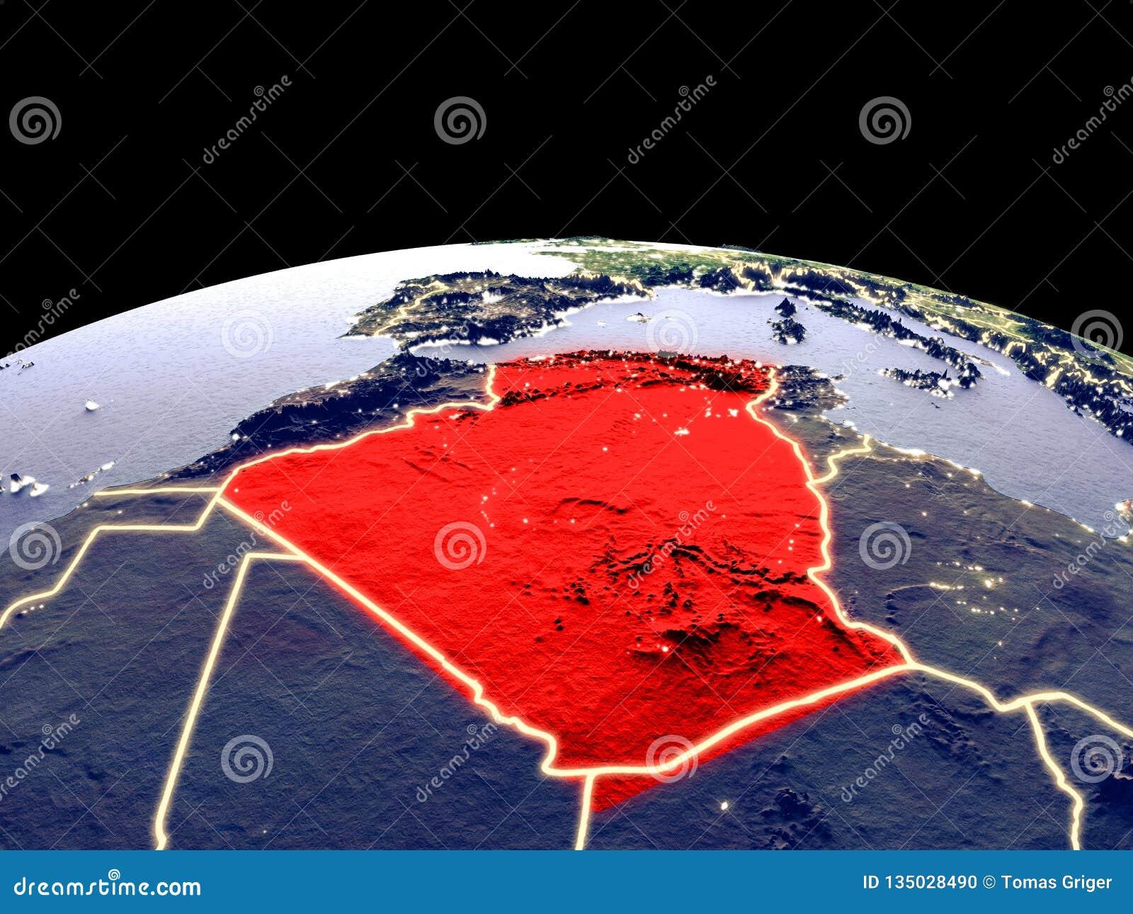 Argelia en la tierra del espacio