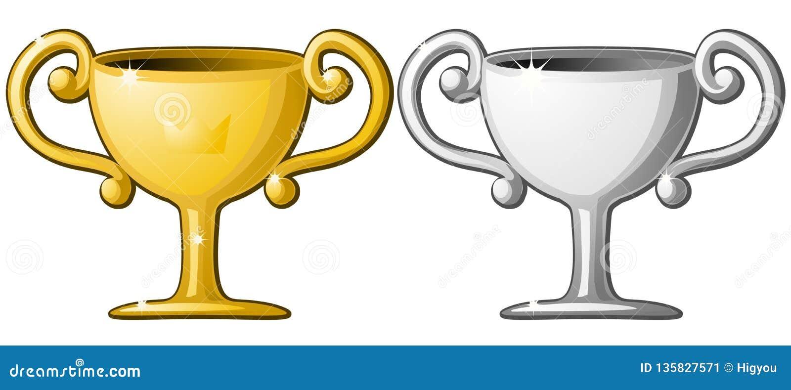 Or argenté de tasse de récompense
