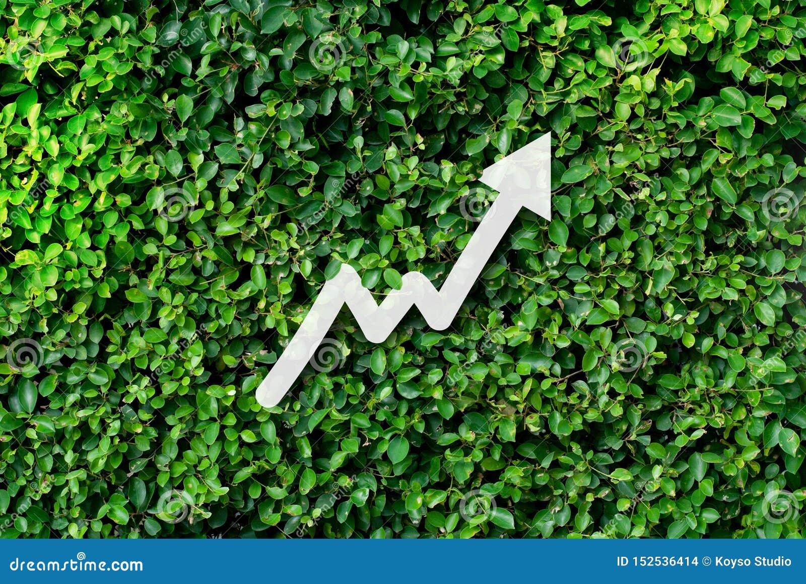 Argent économisant pour des affaires croissantes et le futur concept