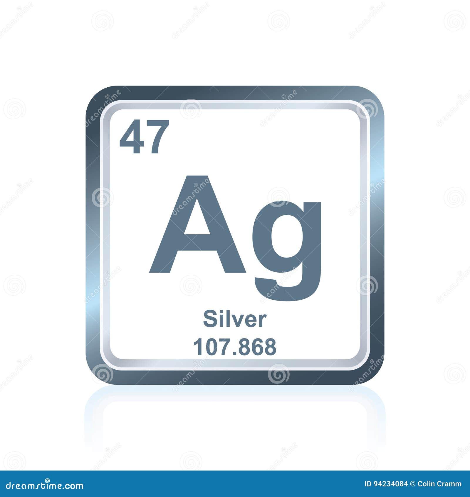 Argent d 39 l ment chimique du tableau p riodique for L tableau periodique en hebreu