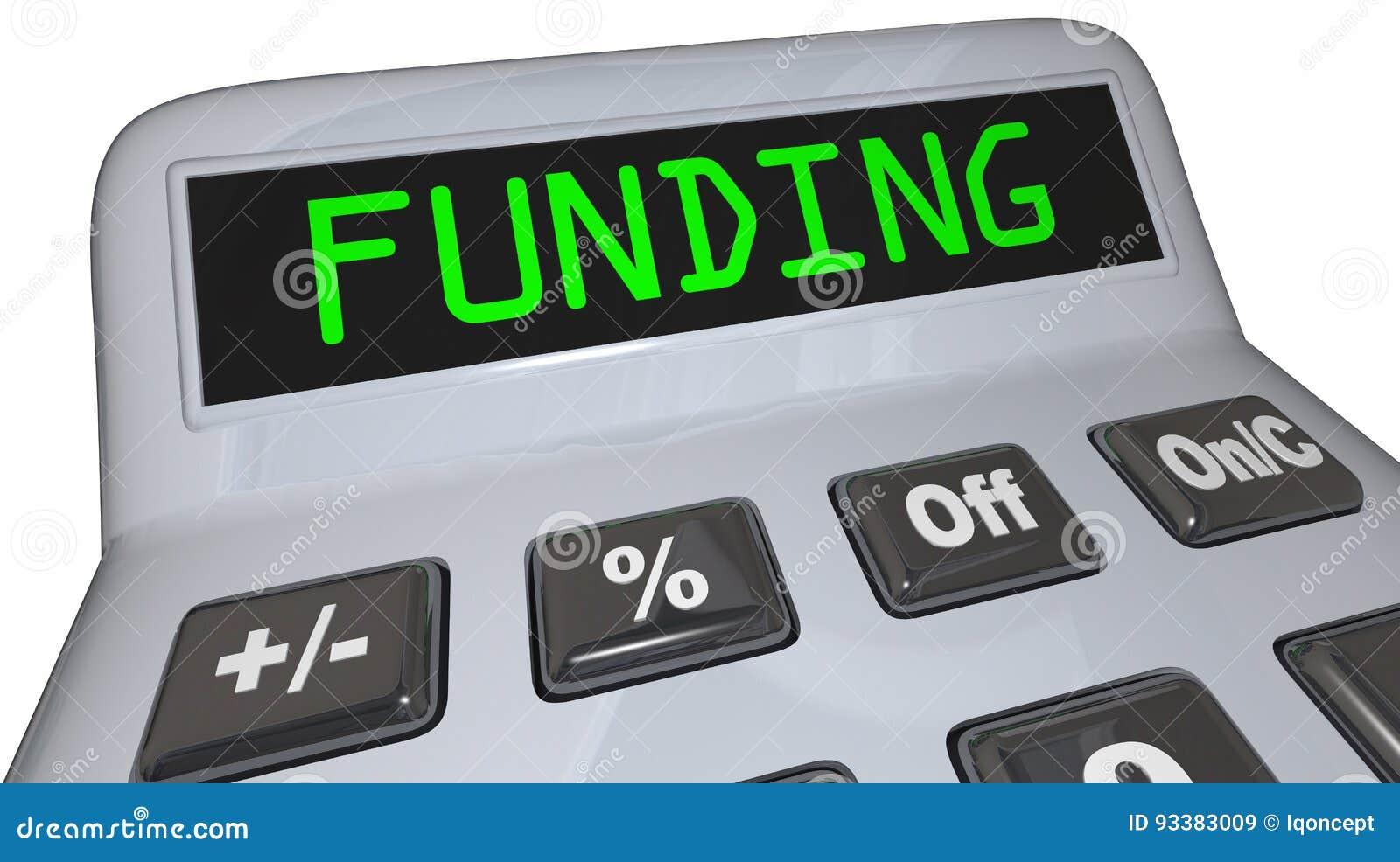 argent de financement de prêt de financement de calculateur de
