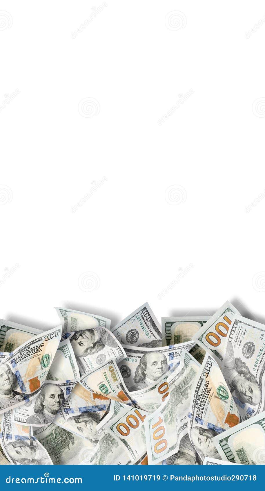 Argent de sort des dollars de fond Photo fortement détaillée d argent américain