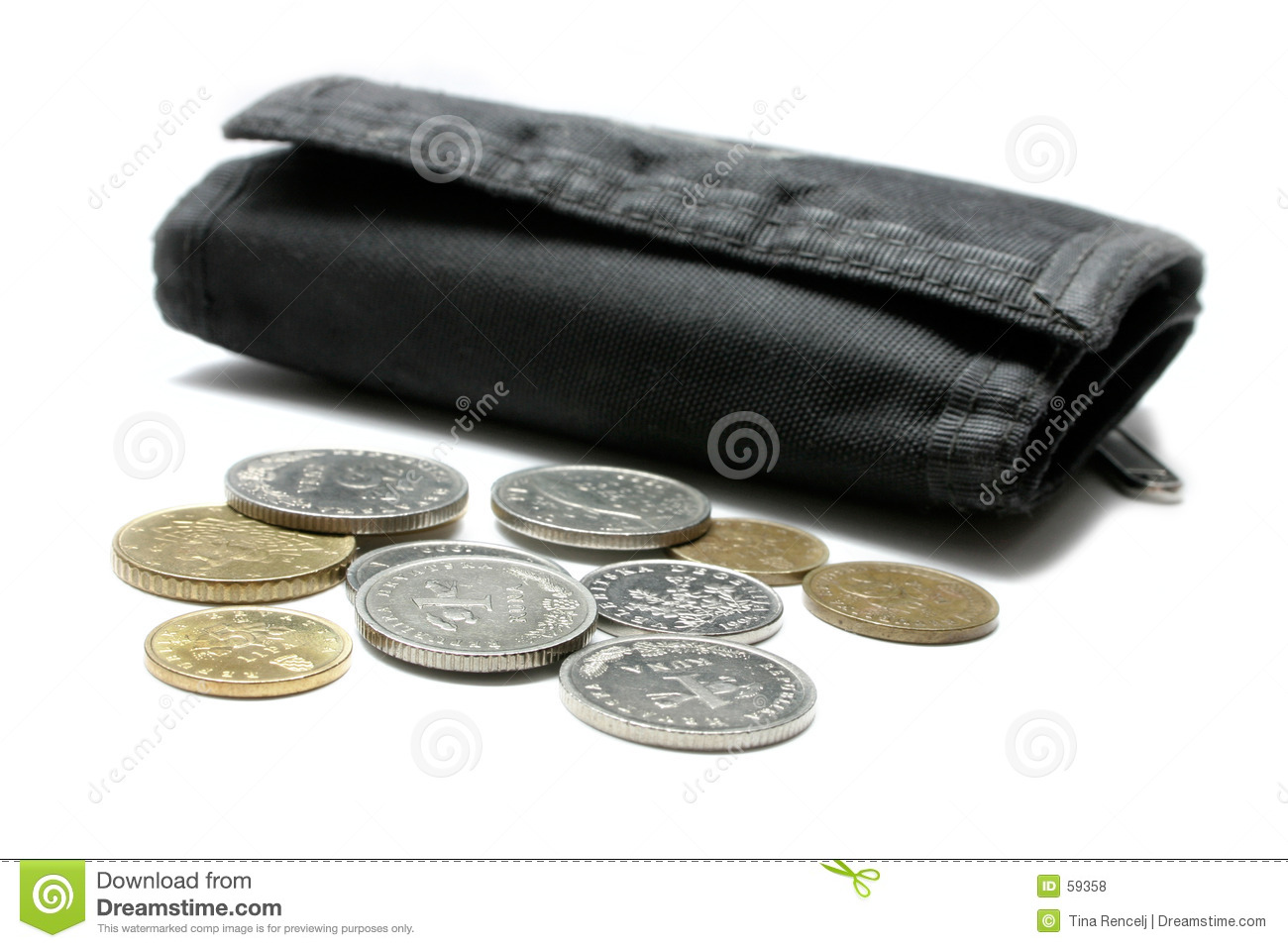 Download Argent et pochette photo stock. Image du fond, croate, compte - 59358