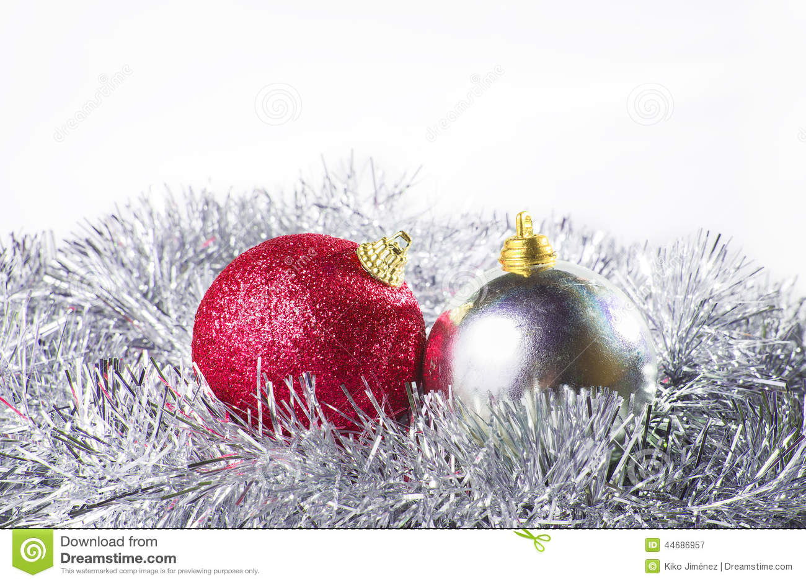 Argent et rouge d ornement de Noël