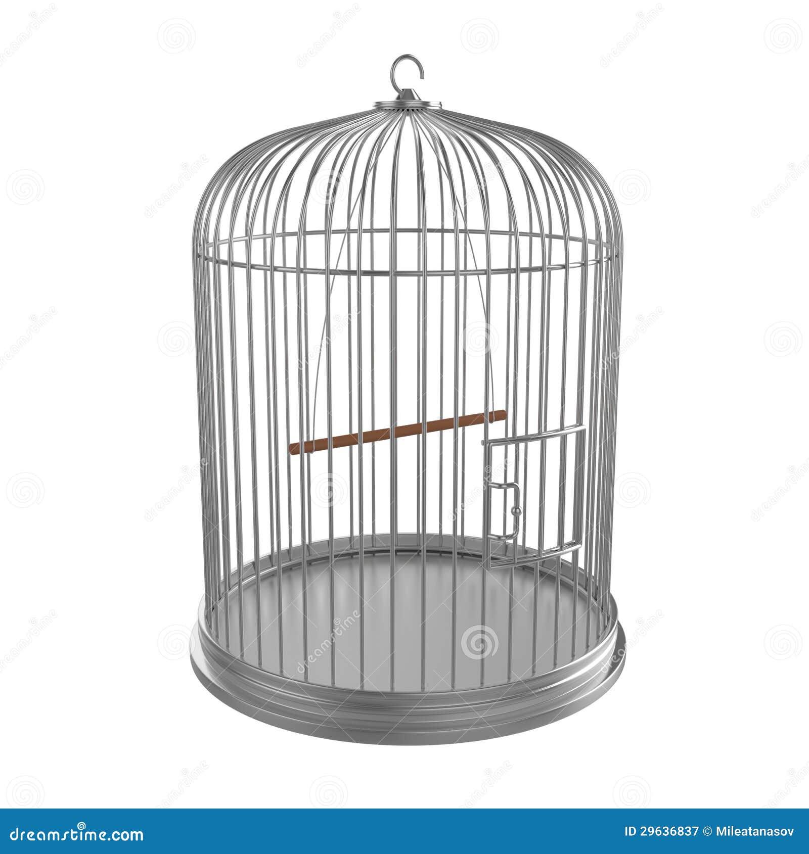 Argentez la cage à oiseaux