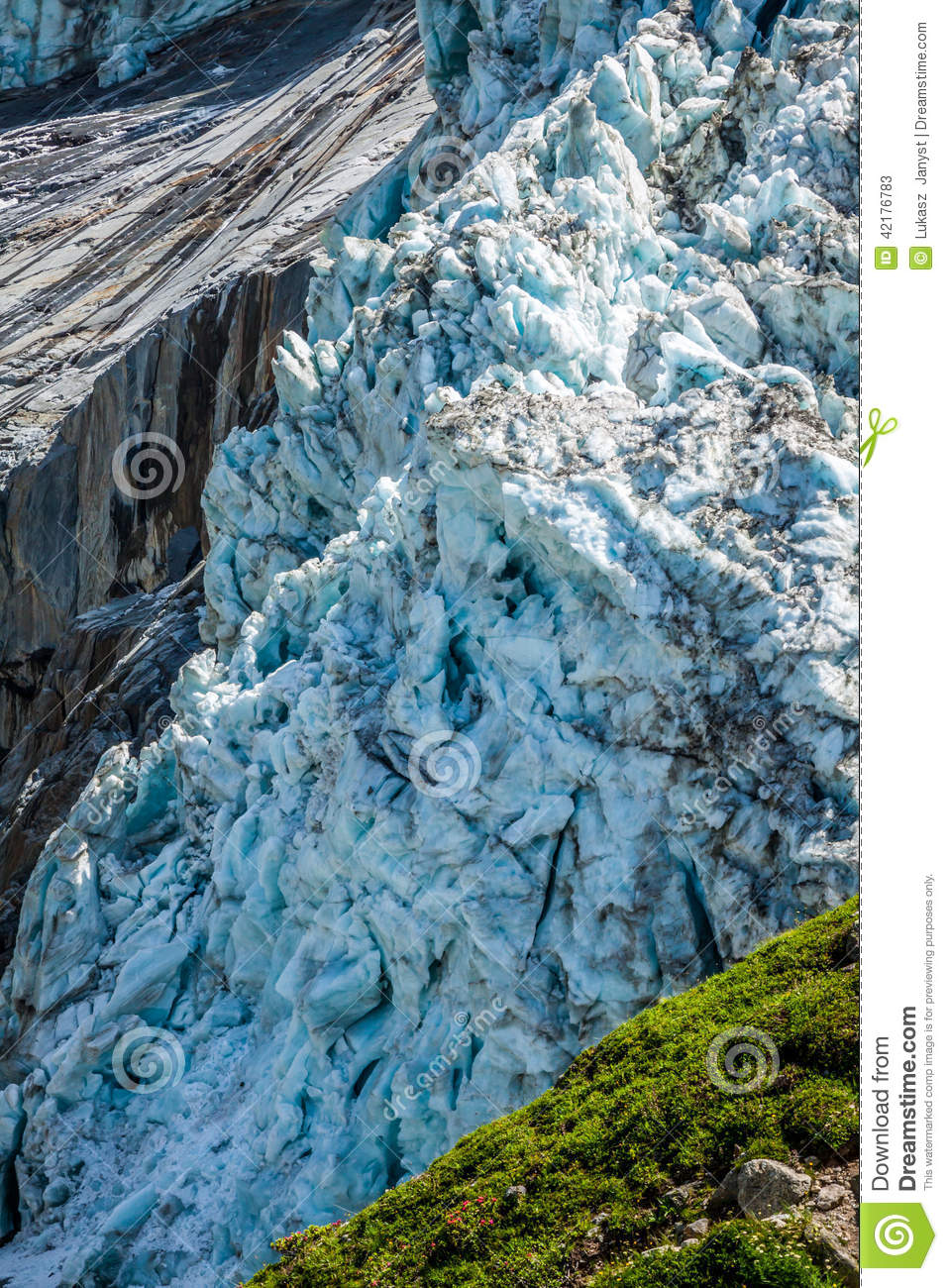 Argentiere France  city pictures gallery : Argentiere Glacier In Chamonix Alps, Mont Blanc Massif, France. Stock ...