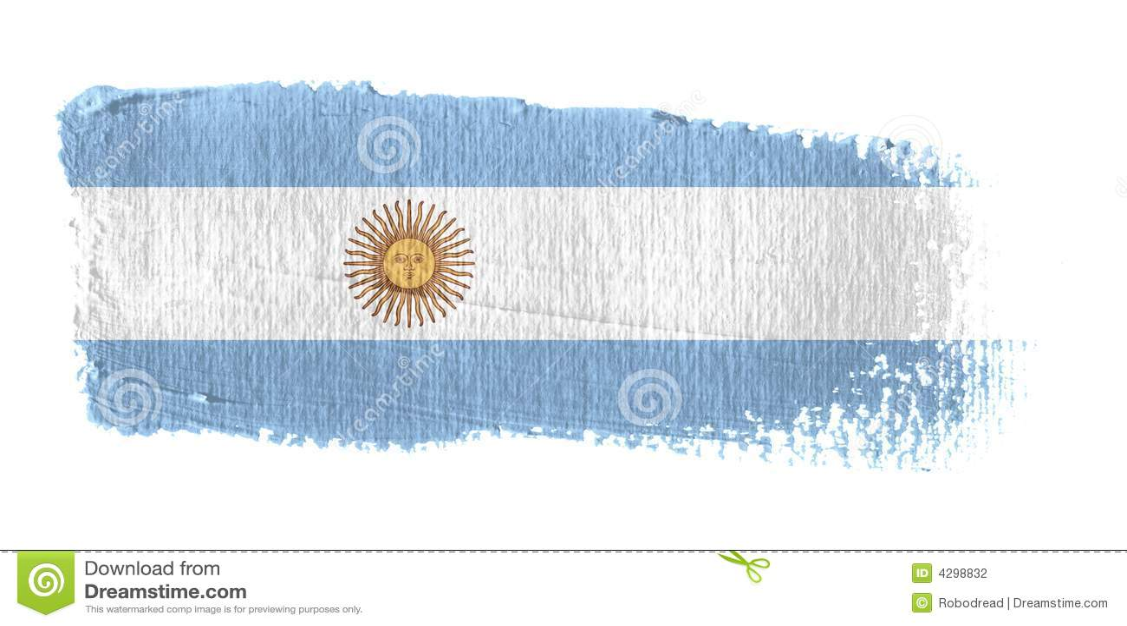 Argentina brushstroke flagę