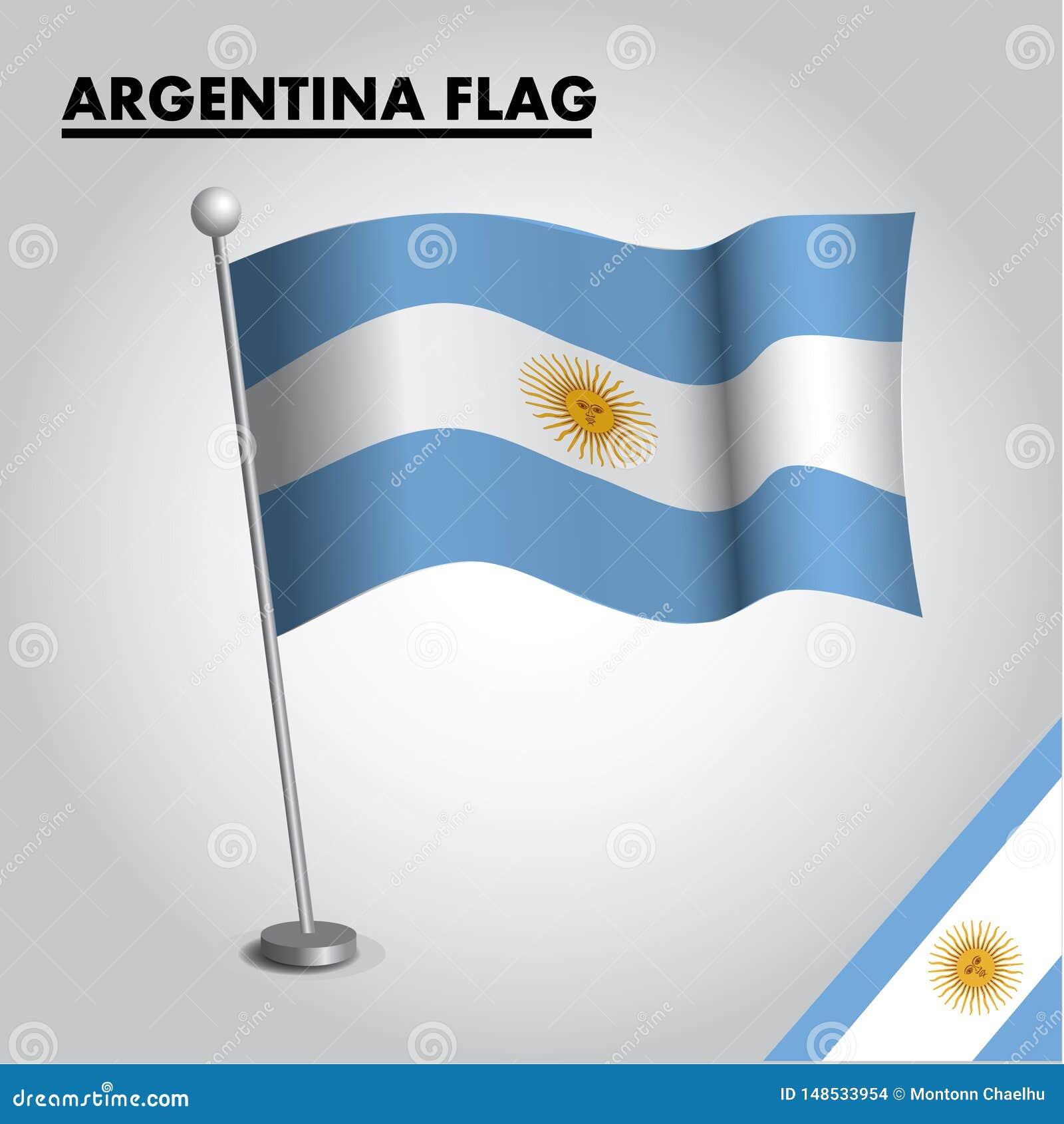 Argentina flag National flag of Argentina on a pole