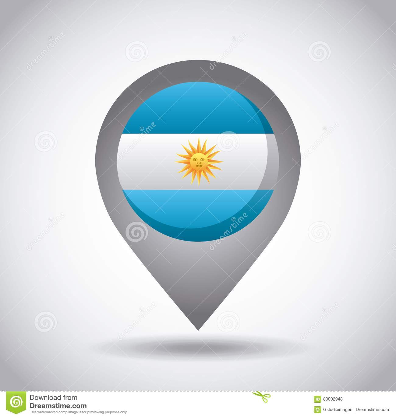 Argentina flaga szpilka