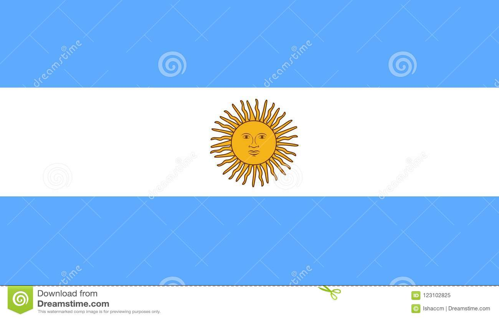 Argentina flaggavektor Illustration av den Argentina flaggan