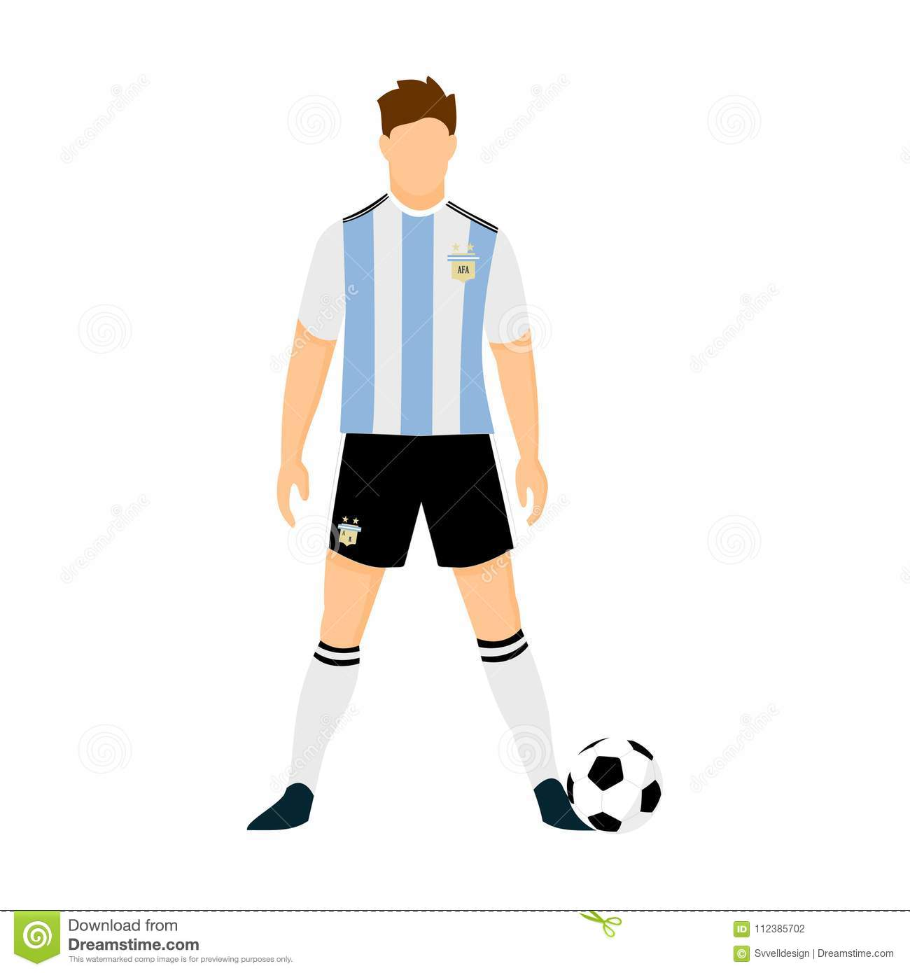 8c6f12b702c Argentina Football Jersey National Team World Cup Vector Illustration  Graphic Design
