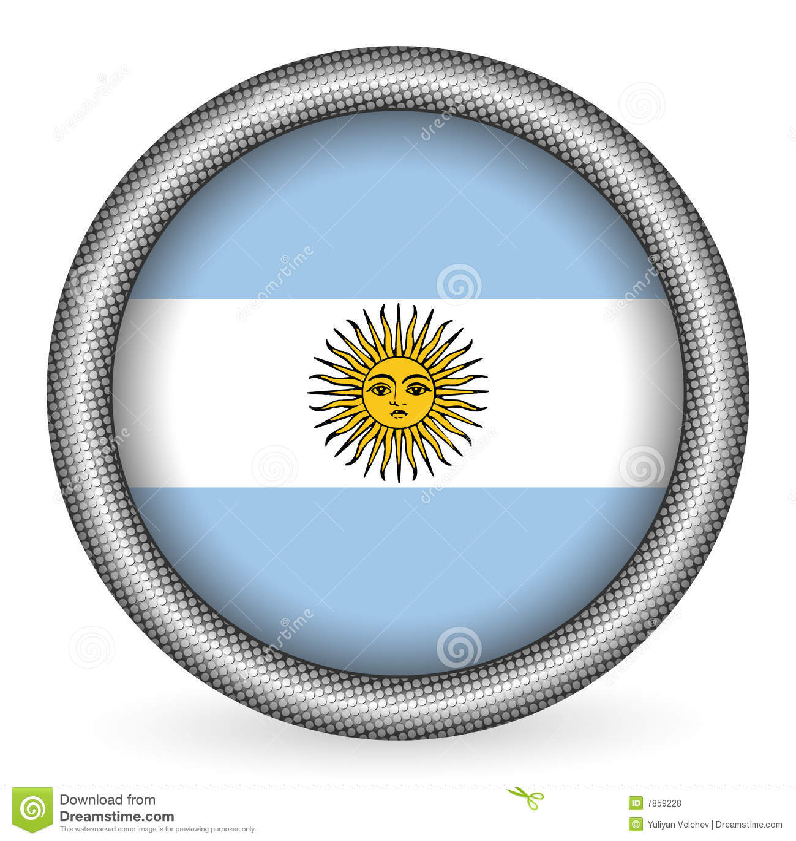 Argentina guzika flaga