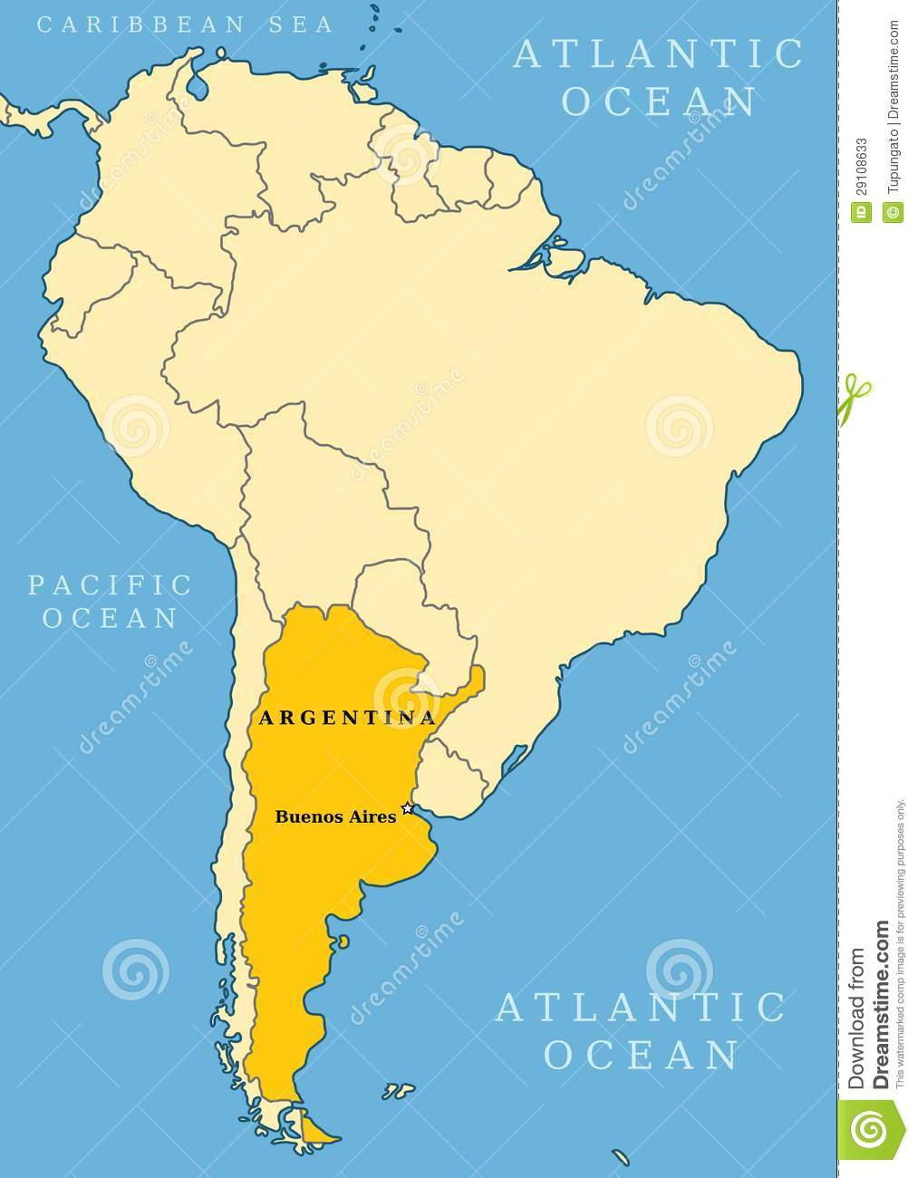 Where Is Buenos Aires On A World Map.Argentina Locator Map Stock Vector Illustration Of Borders 29108633
