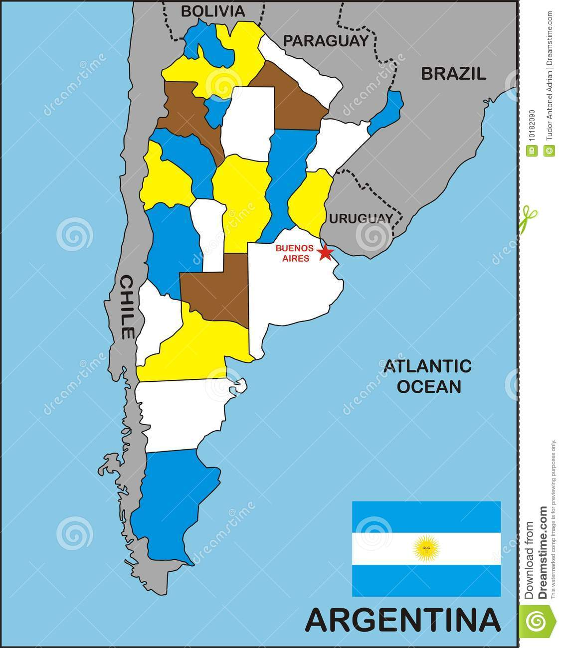 Argentina Map Stock Photo Image - Argentina map download