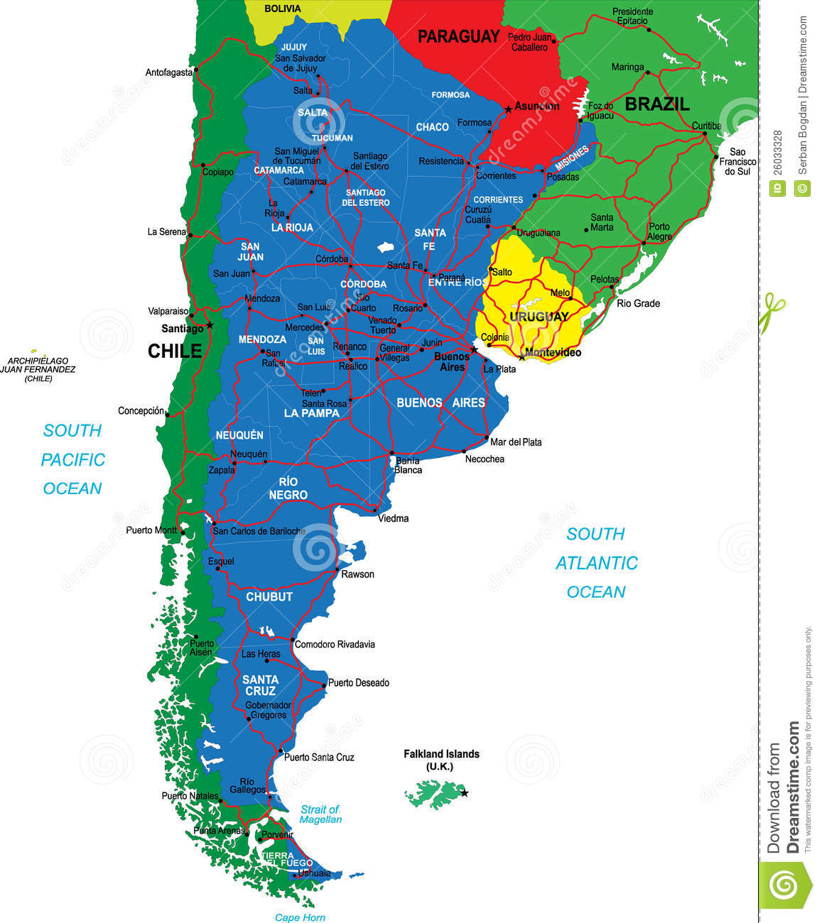 Argentina Map Royalty Free Stock Photos Image - Argentina map download