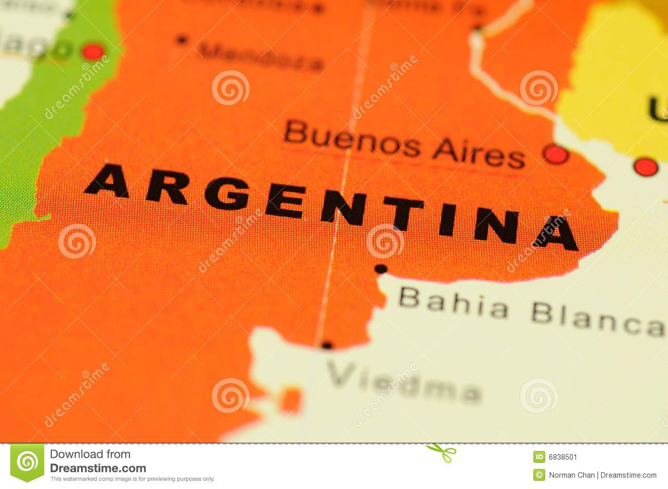 Argentina On Map Stock Image Image - Argentina map download