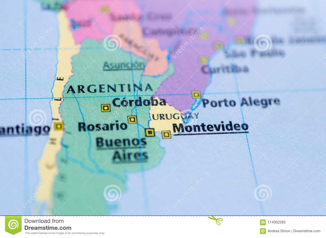Argentina on map stock image. Image of argentina, harbour ...