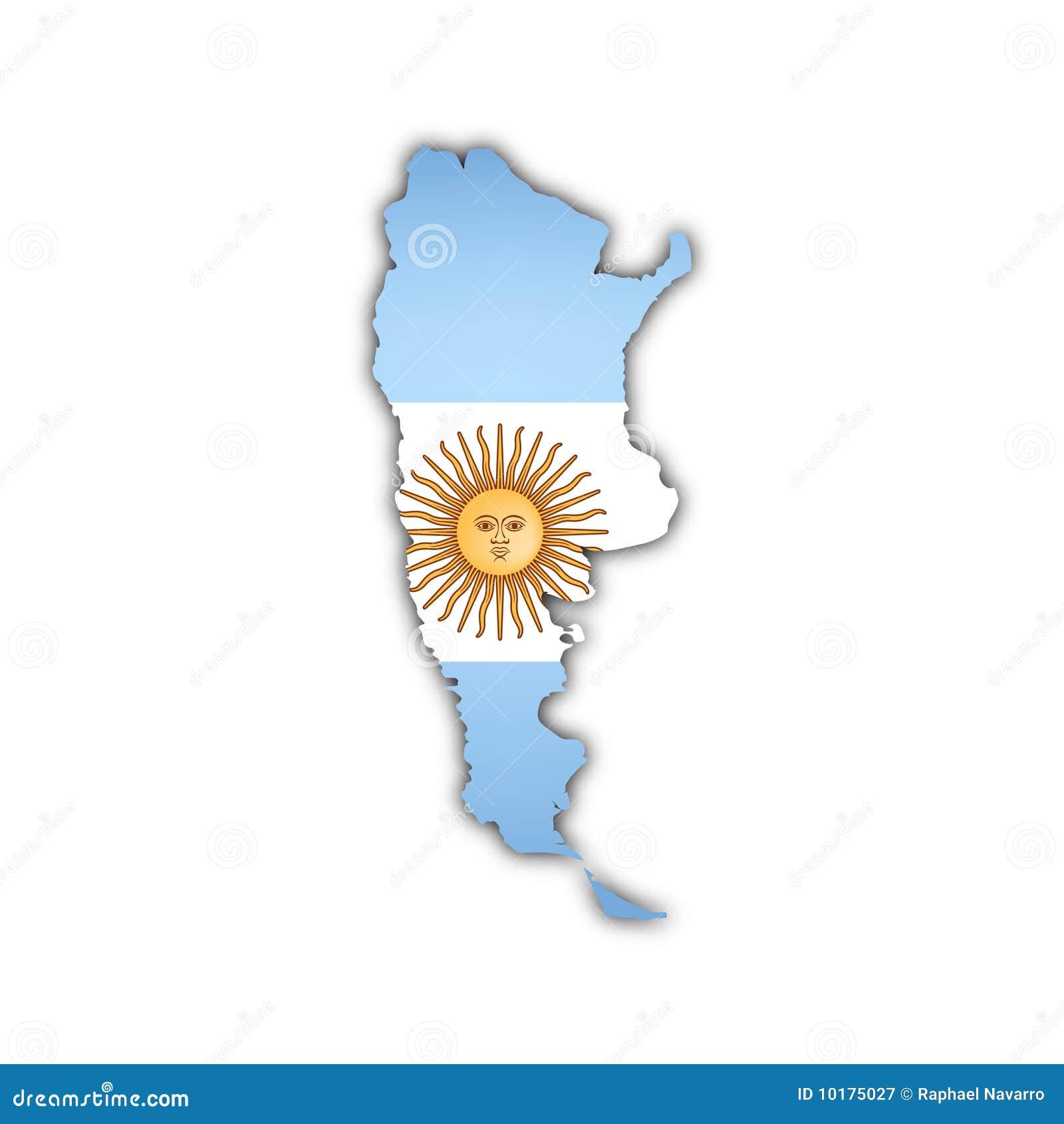 Argentina mapy wektor