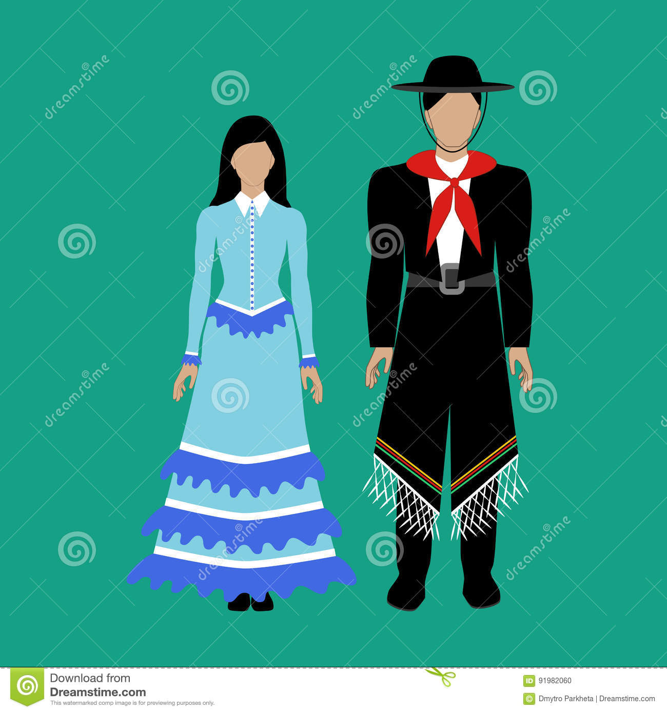 Argentina Flag And Costume