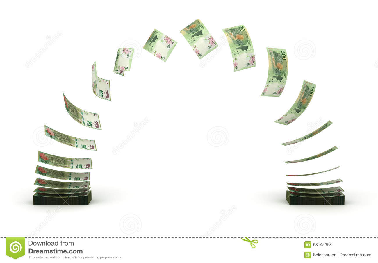 Argentina Pesos Transfer Stock Illustration Illustration Of Paying