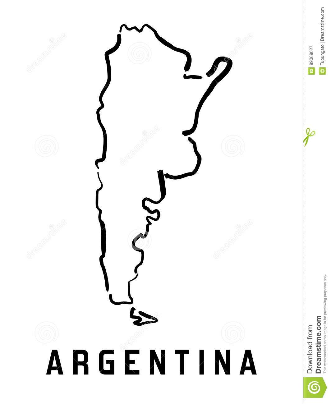 Argentina Simple Map Stock Vector Image Of Smooth State - Argentina map shape