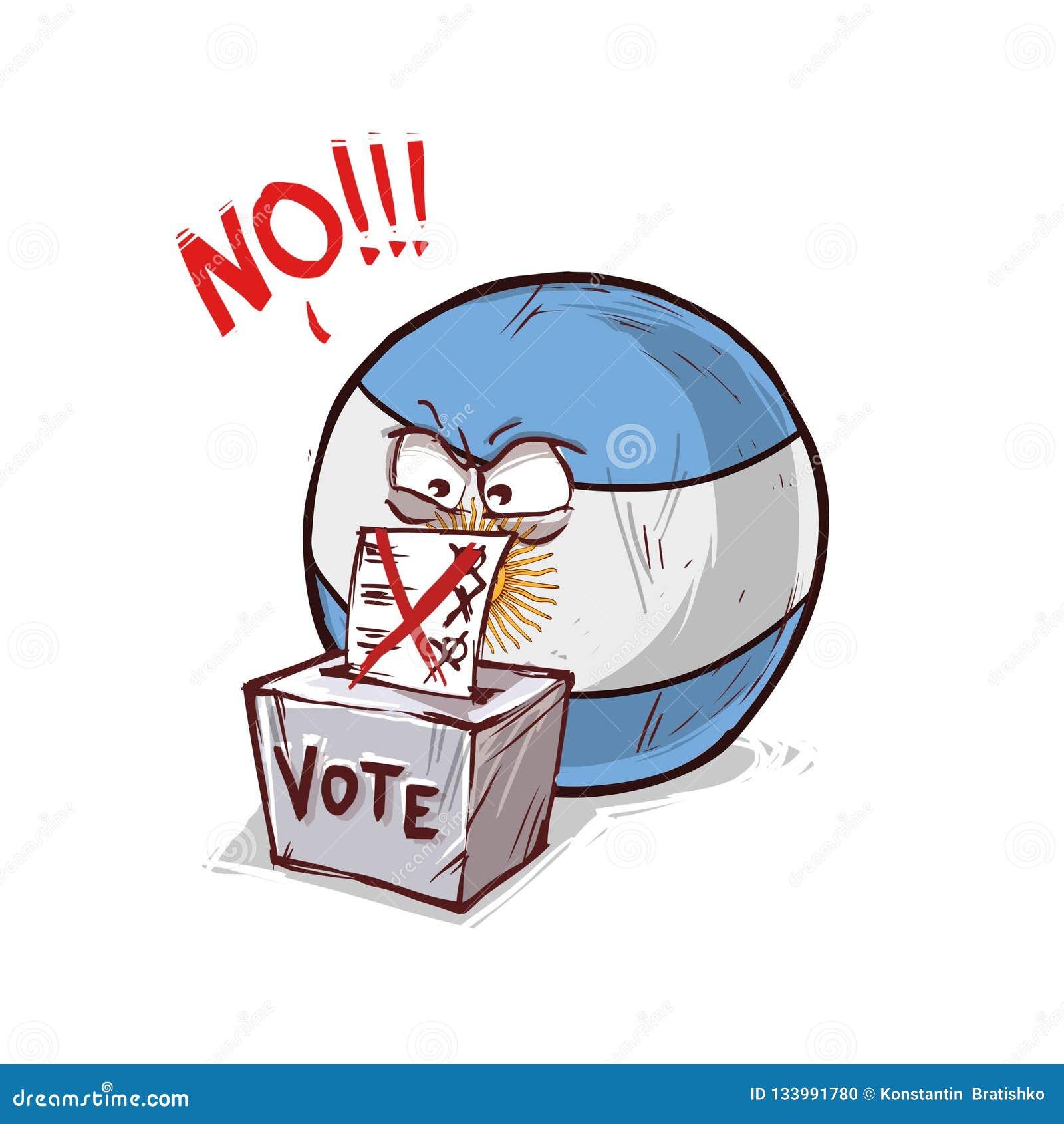 Argentina som röstar inte