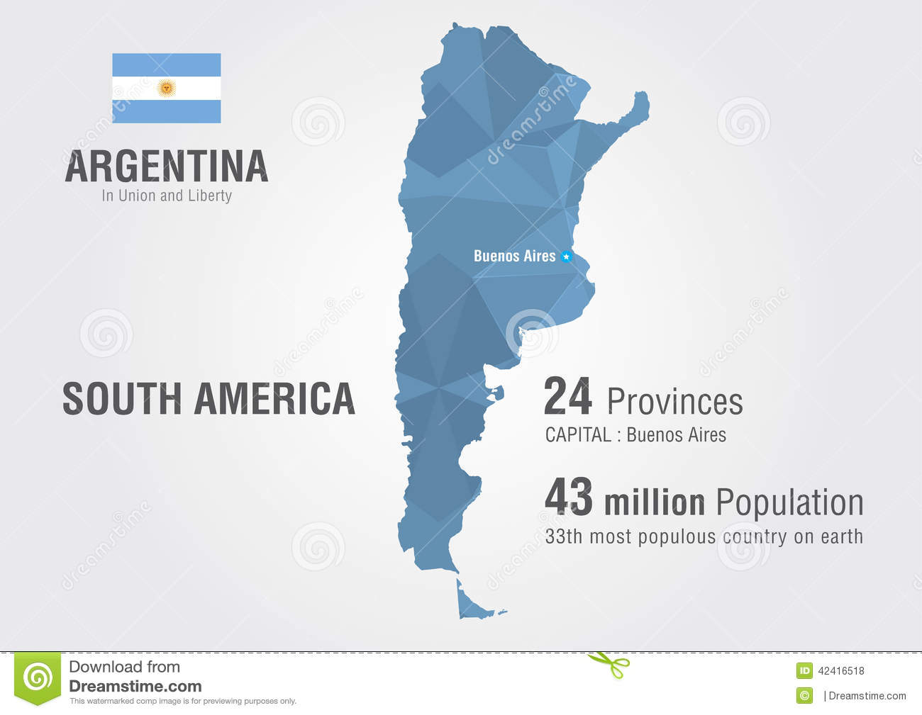 Argentina World Map With A Pattern Of Pixel Diamond Stock Vector - Argentina global map
