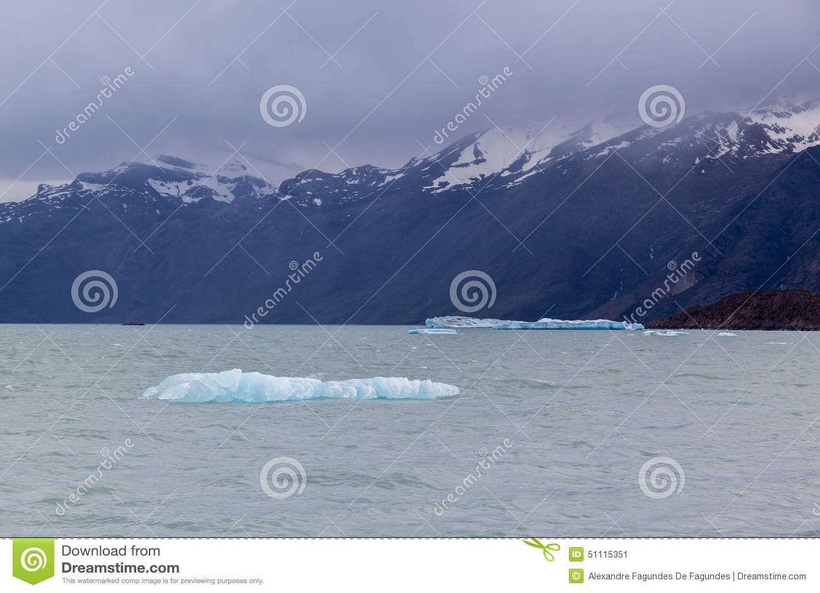 argentine湖冰块 库存照片