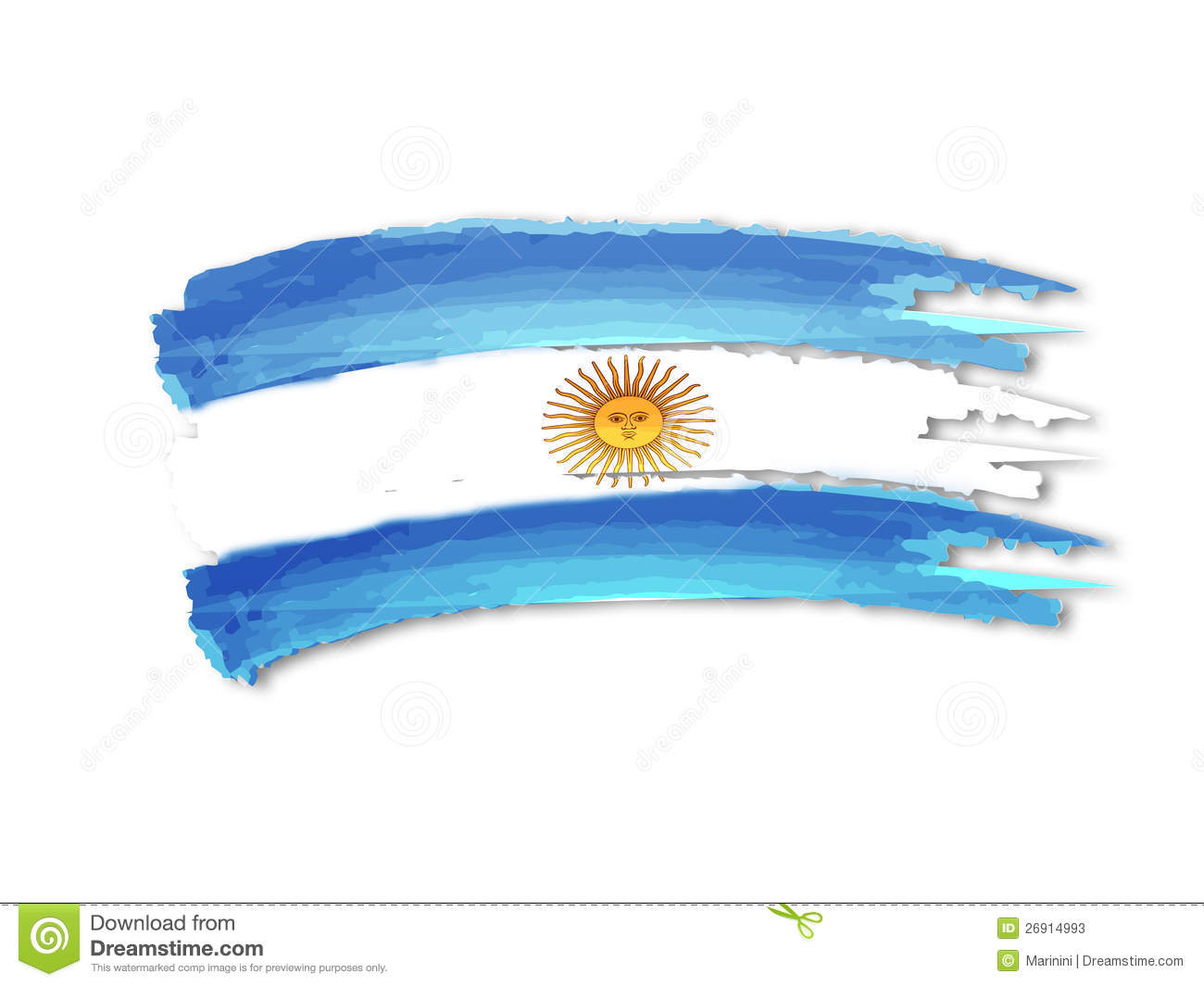 Argentine Flag Drawing Stock Photos - Image: 26914993