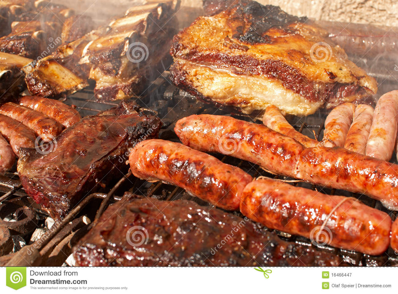 Argentinian barbecue royalty free stock photography - Barbecue argentin ...