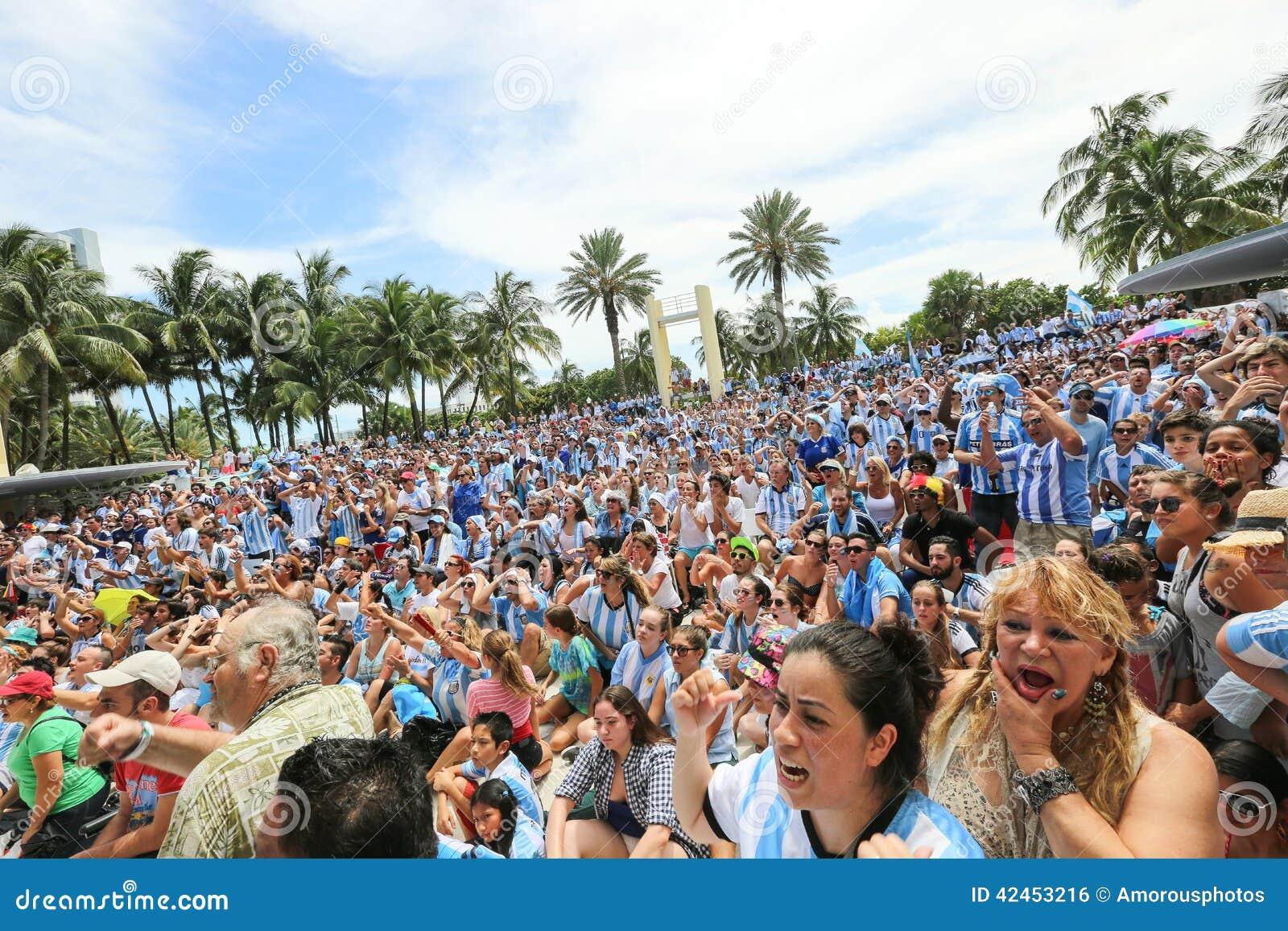 Argentinien-Anhänger auf Miami Beach
