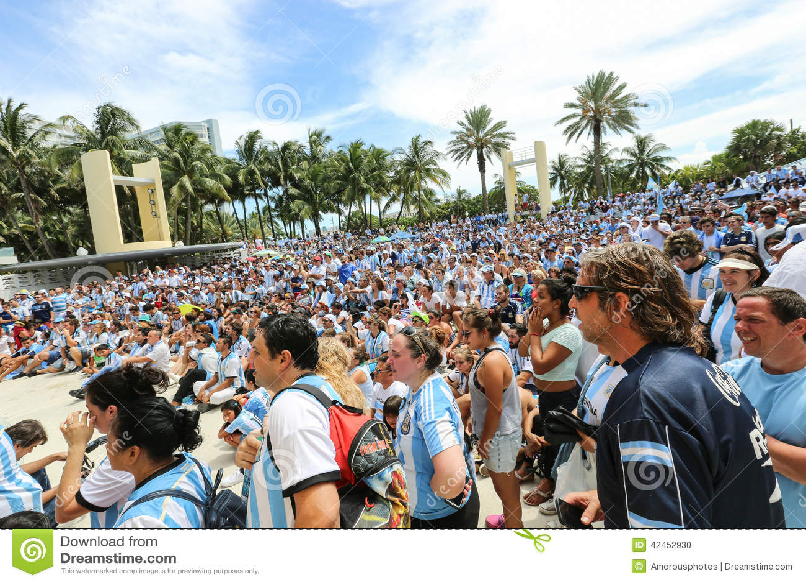 Argentinien-Fans auf Miami Beach