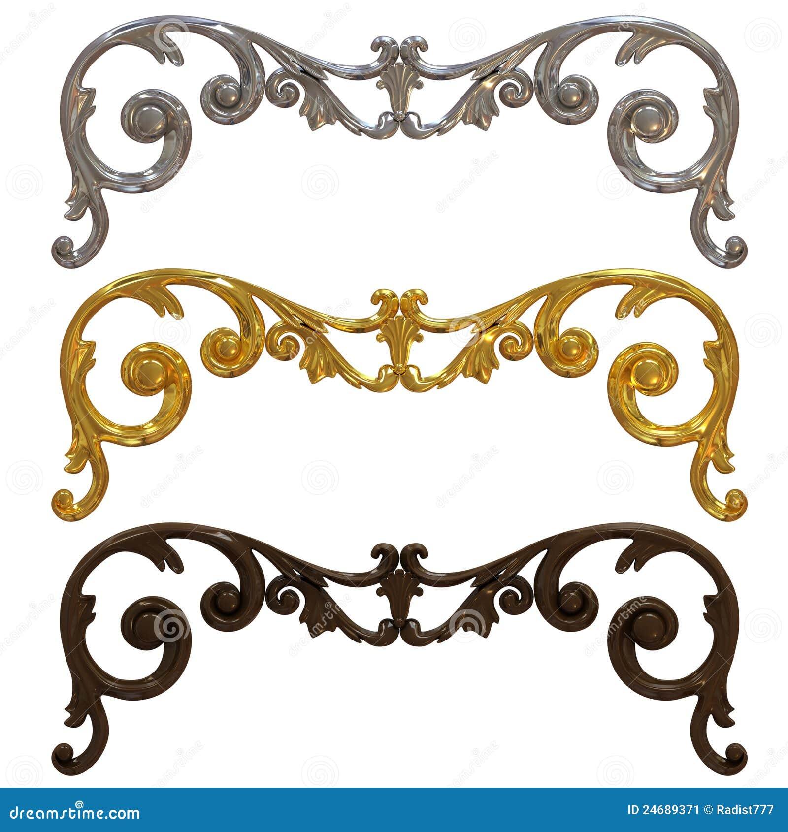 Argento oro e decorazioni di ceramica immagine stock for Decorazione ceramica