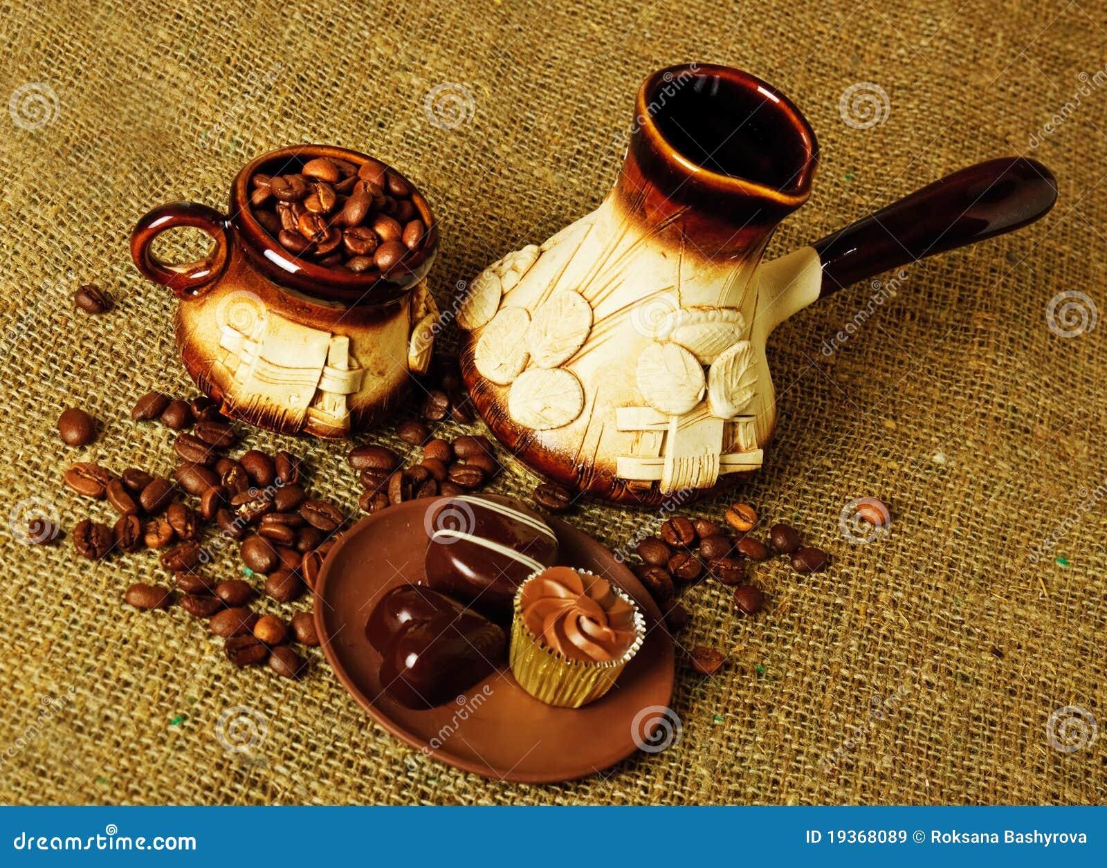 Argila ajustada para o café