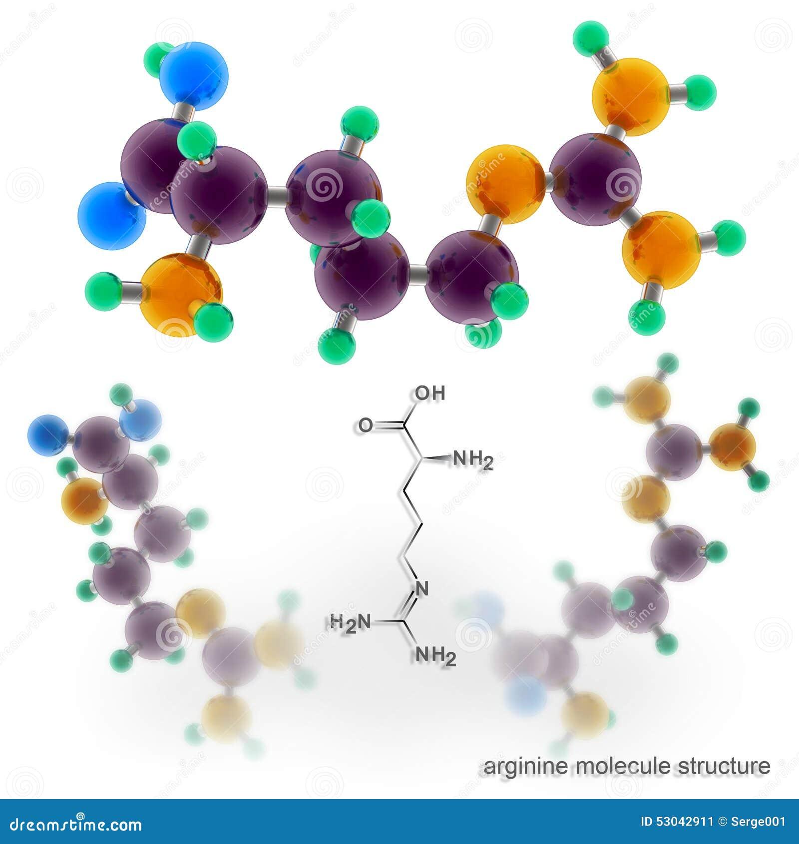 Arginine molekuły struktura