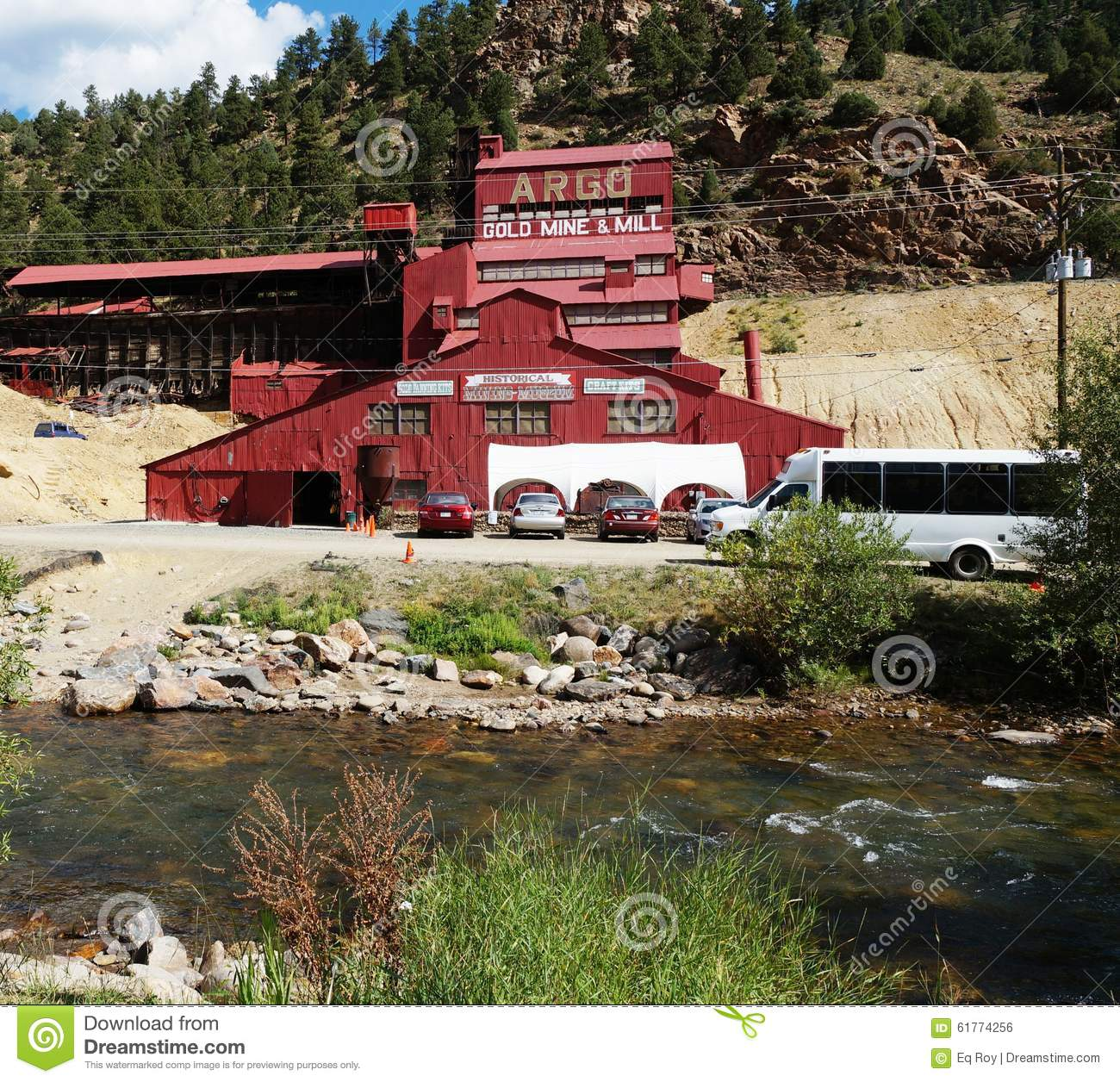 Colorado Springs And: The Argo Gold Mine And Mill In Colorado Editorial Photo