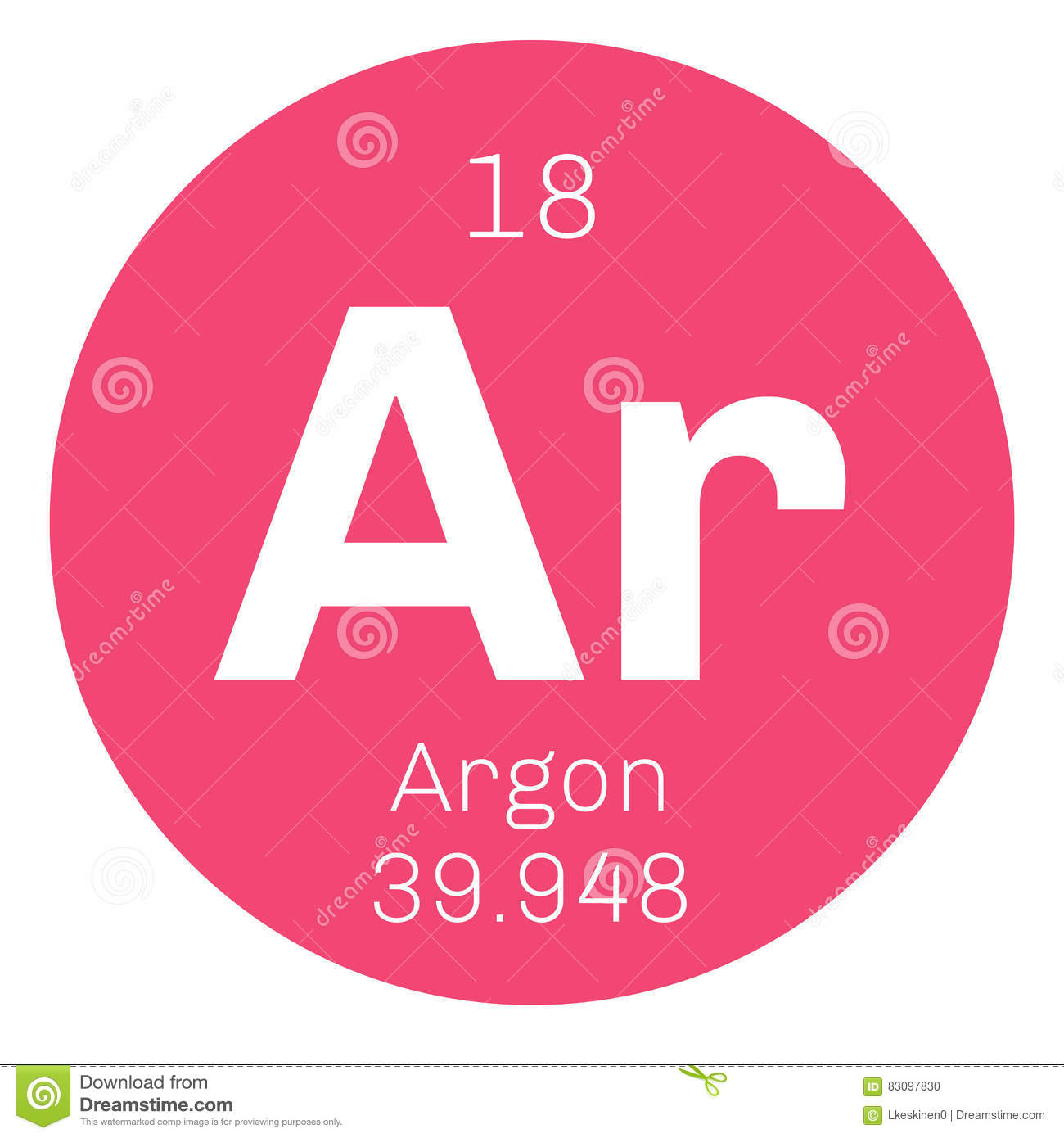 Argon chemical element stock vector image of symbol 83097830 royalty free vector gamestrikefo Choice Image