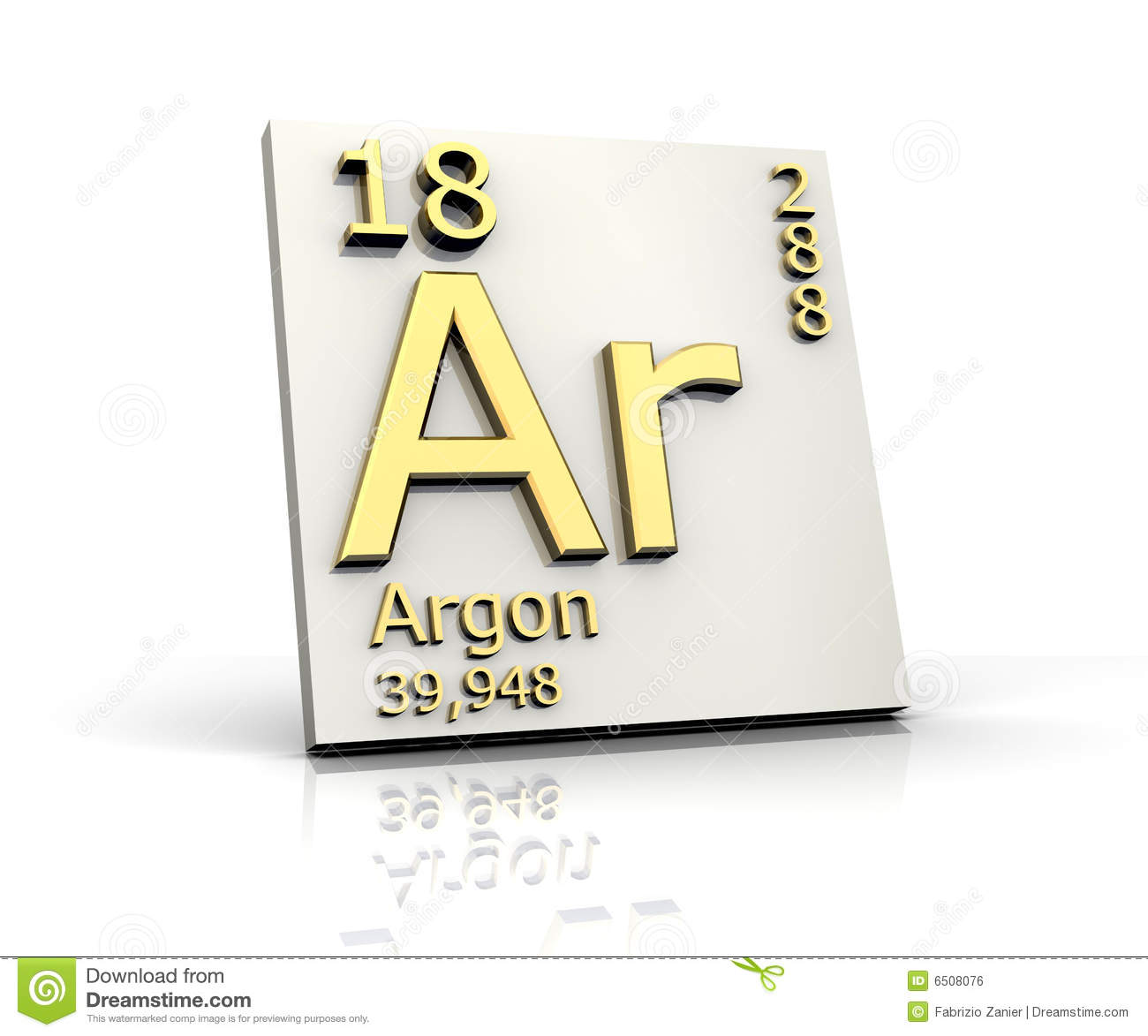 Argon Form Periodic Table Of Elements Royalty Free Stock ...