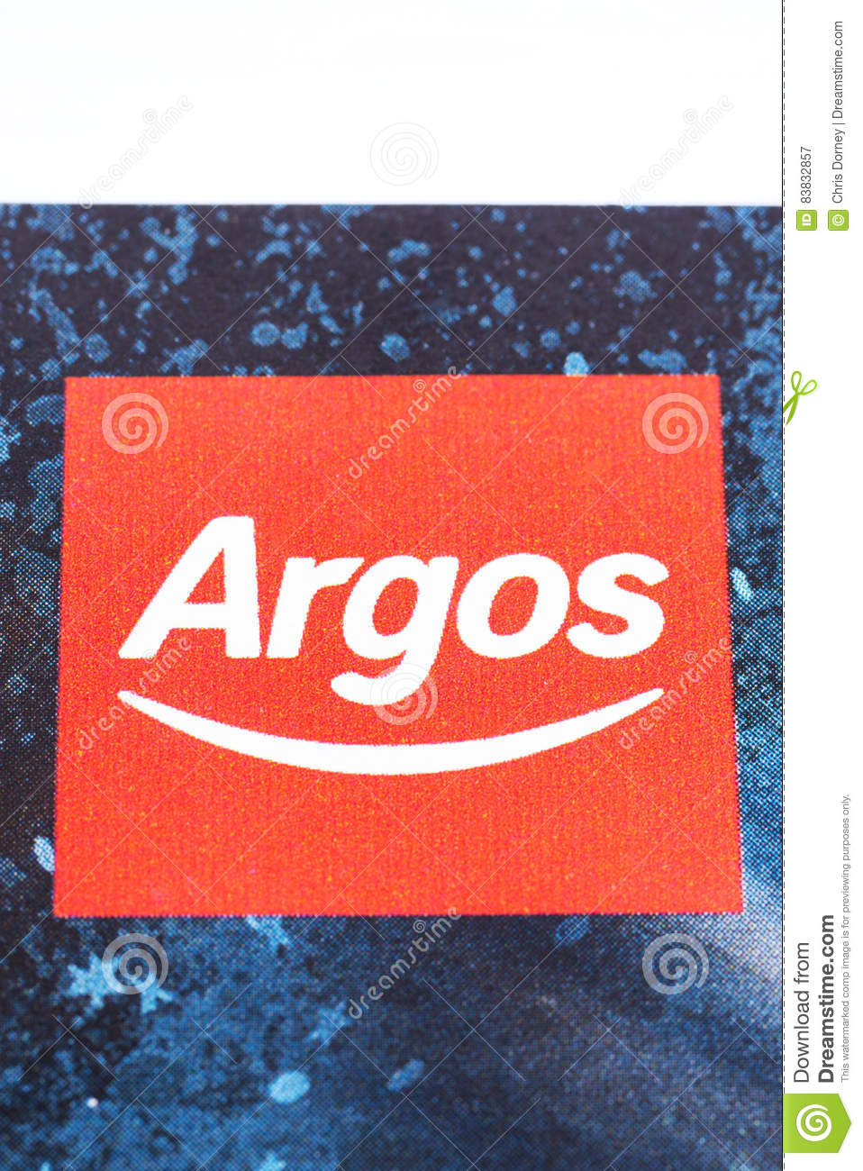 Argos company Logo editorial photography  Image of sell - 83832857