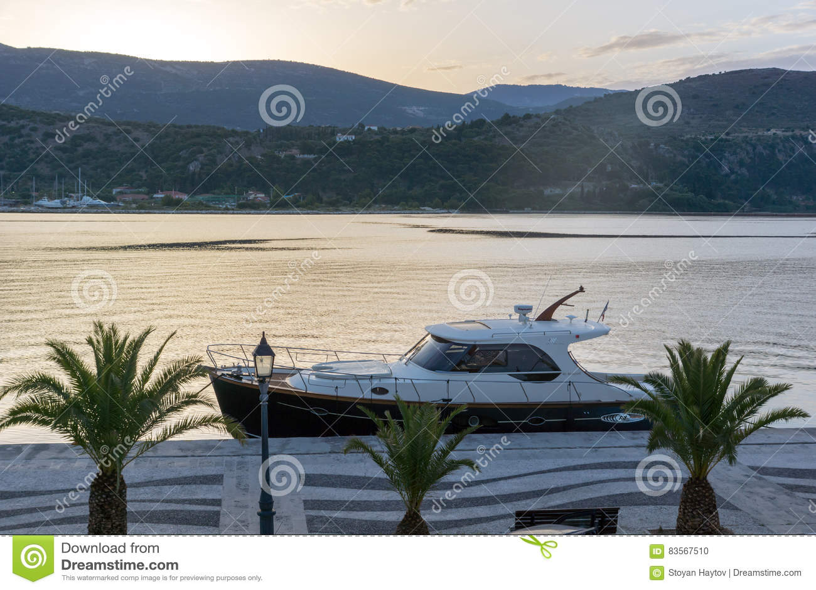 Argostoli Kefalonia Greece May 26 2015 Sunrise View Of
