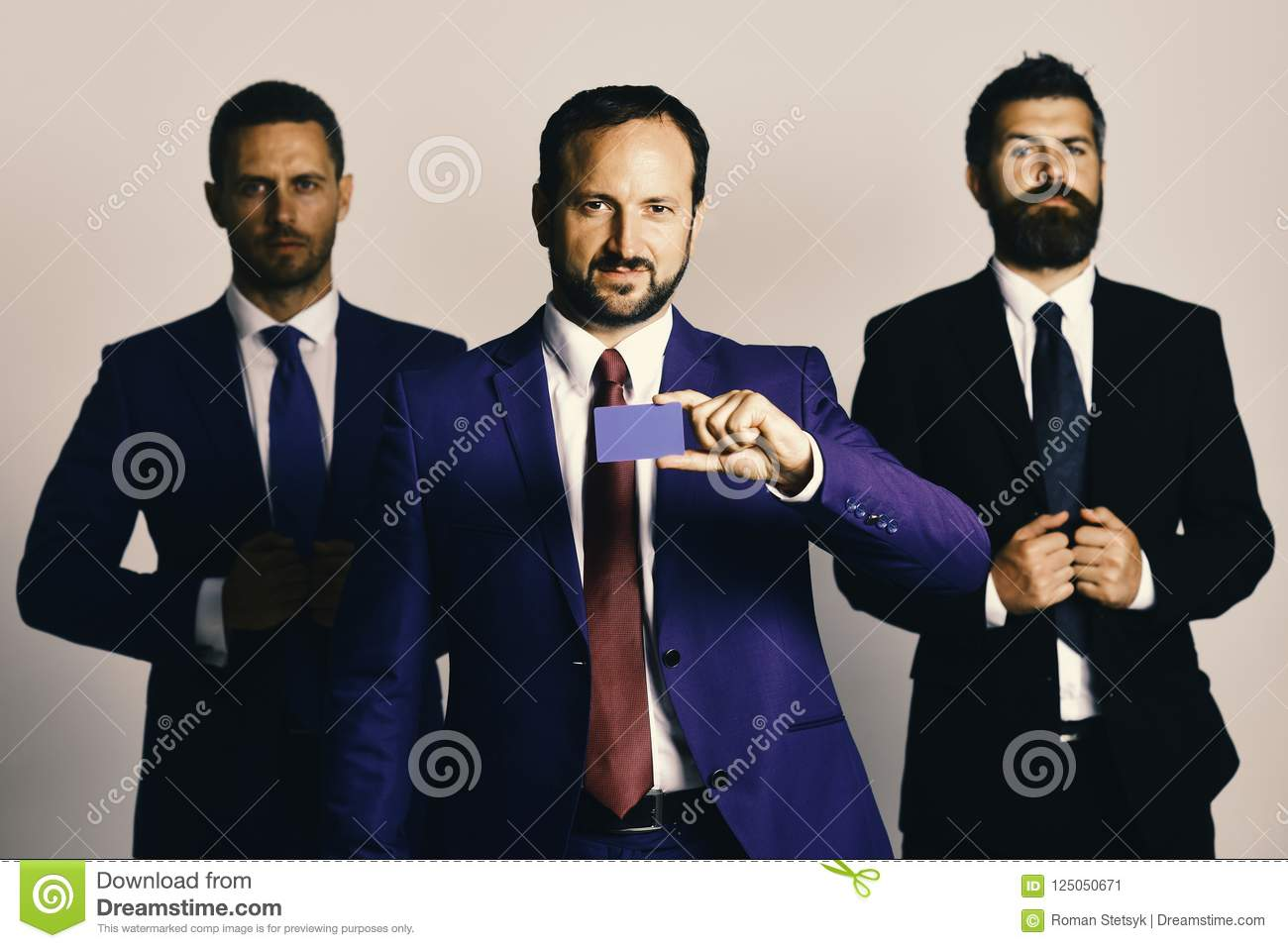 Argument And Business Concept Businessmen Wear Smart Suits And Ties